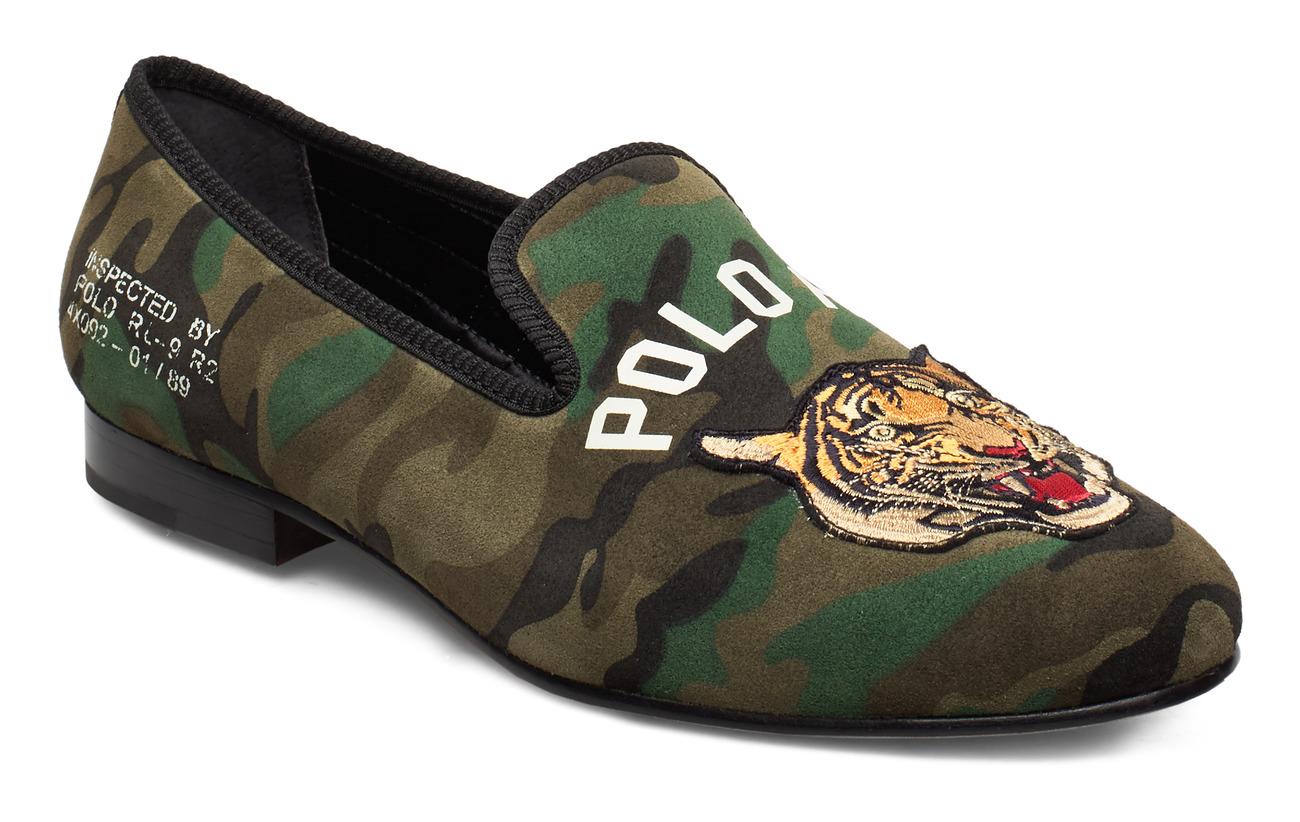 Polo Ralph Lauren SILKY SUEDE-PAXTON SLPPR-SO-SLP - OLIVE TIGER CAMO