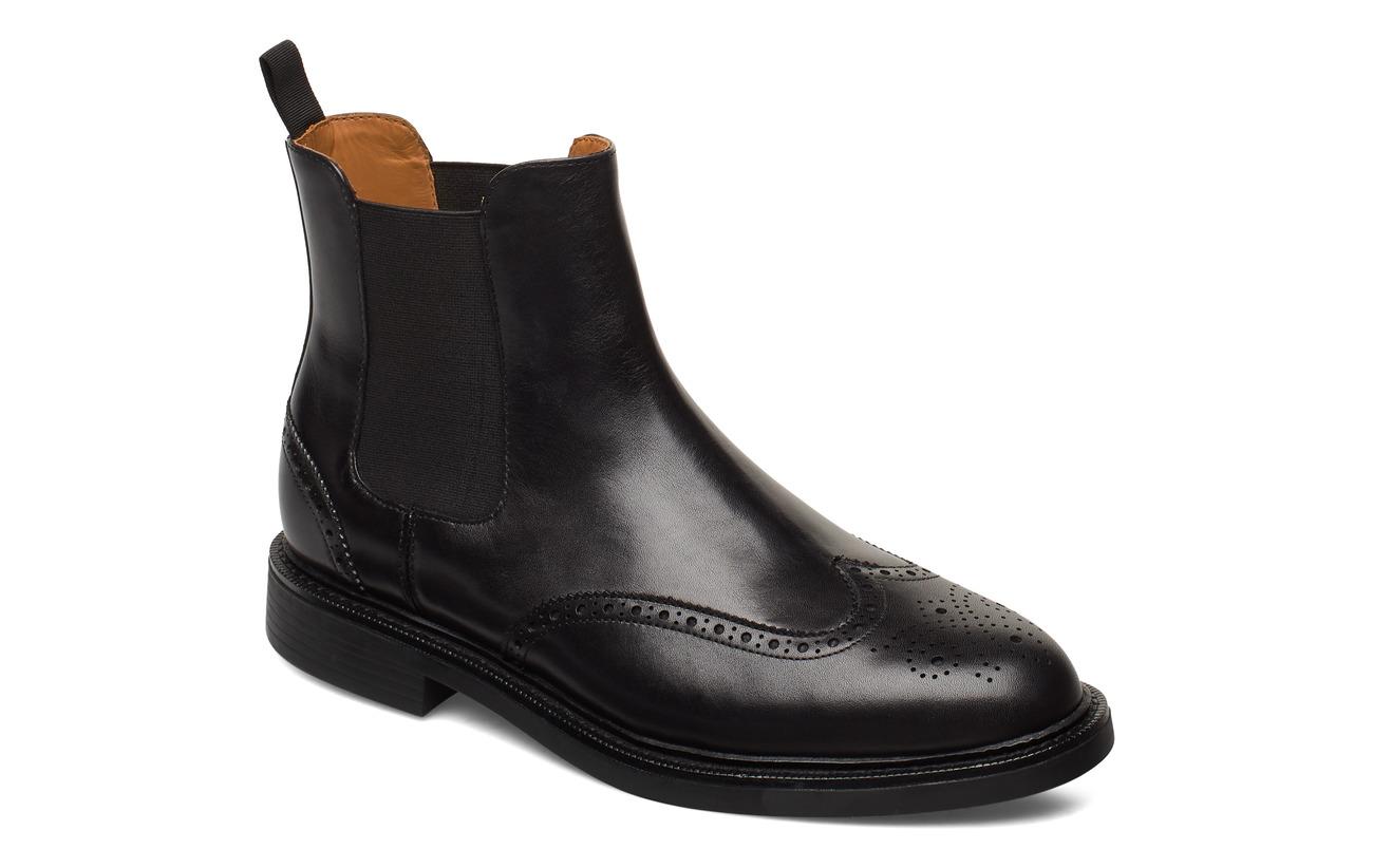 Polo Ralph Lauren Asher Wingtip Chelsea Boot - BLACK