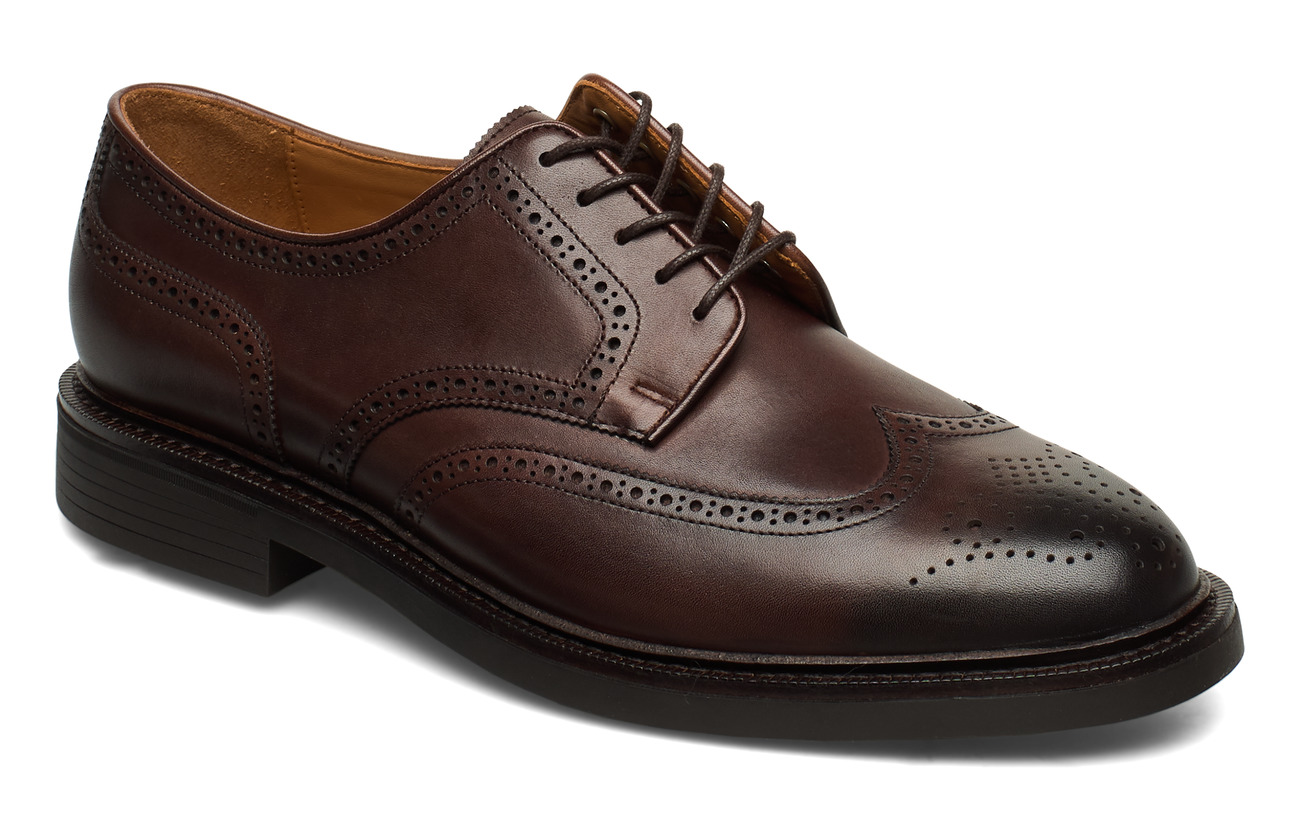 Polo Ralph Lauren Asher Leather Wingtip - POLO BROWN