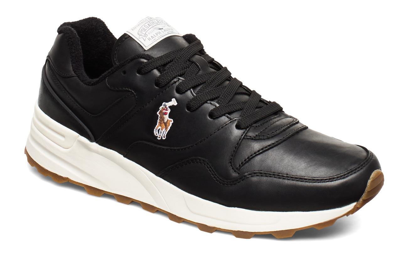 Polo Ralph Lauren Trackster 100 Leather Sneaker - BLACK