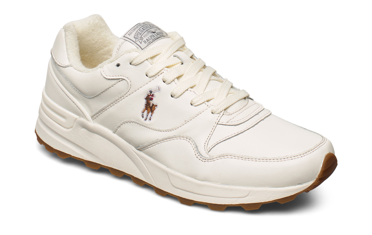 Polo Ralph Lauren Trackster 100 Leather Sneaker - EGRET