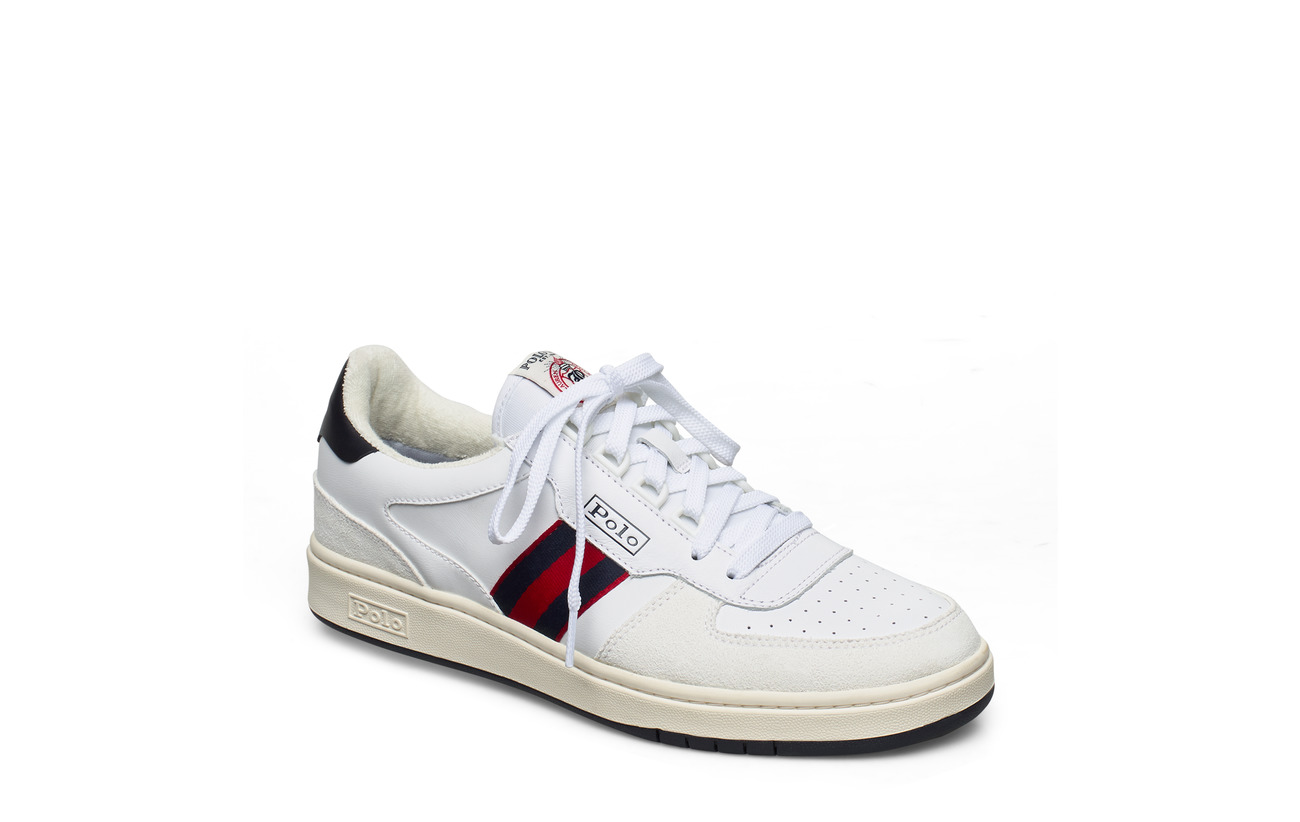 Polo Ralph Lauren Court Leather Sneaker - WHITE/NEWPORT NVY