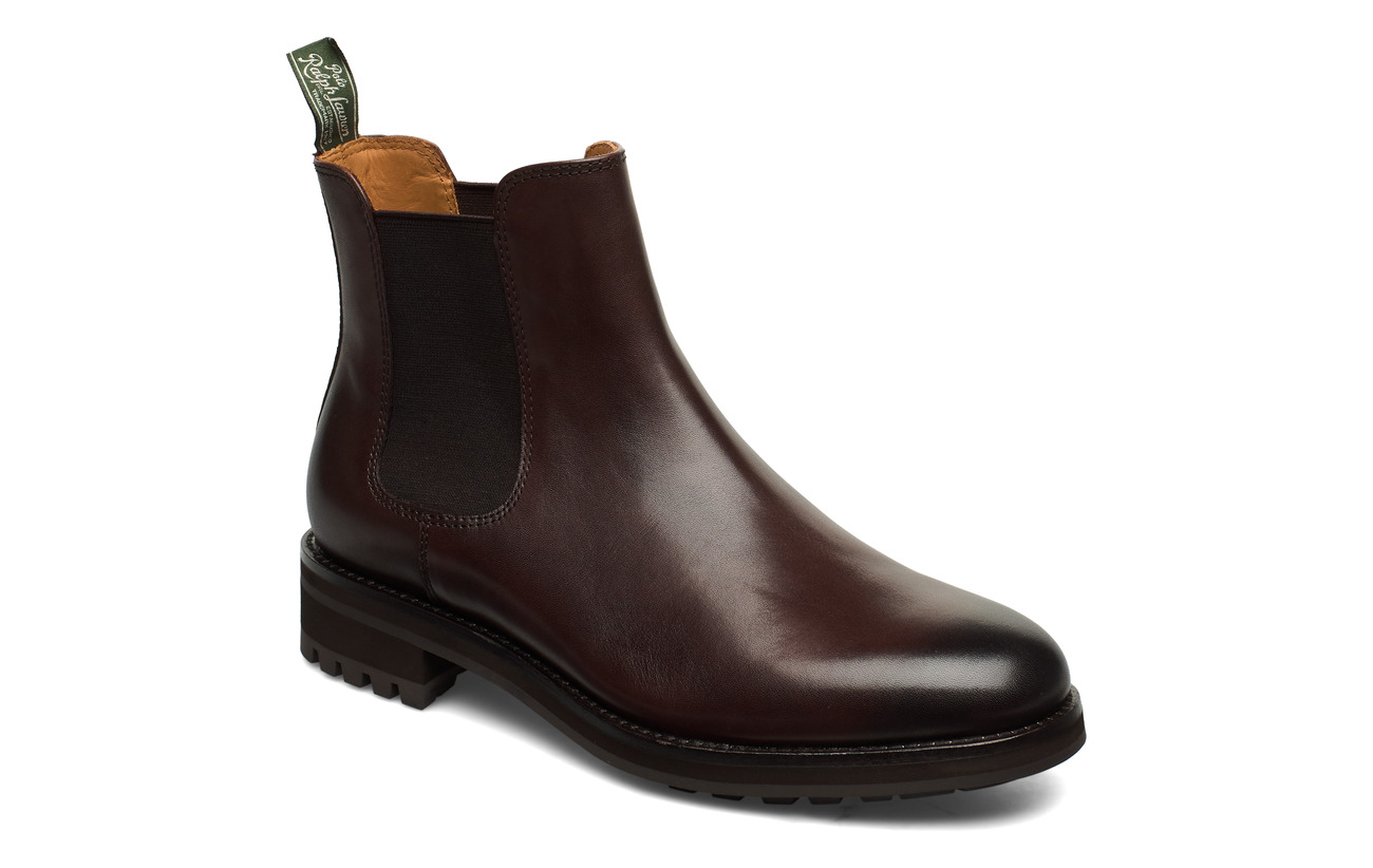 Polo Ralph Lauren Bryson Leather Chelsea Boot - POLO BROWN