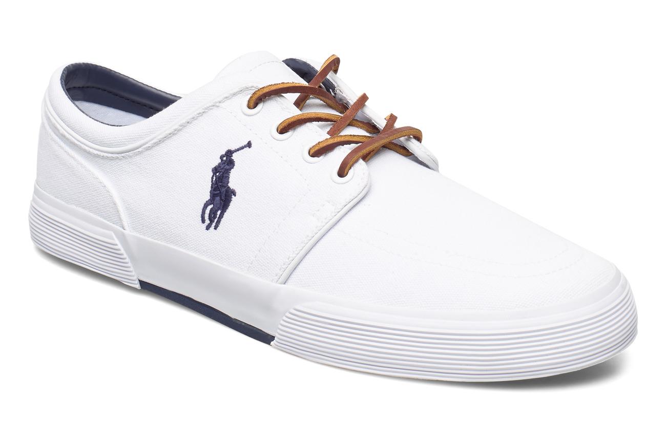 Polo Ralph Lauren CANVAS-FAXON LOW/NE-SK-VLC - PURE WHITE