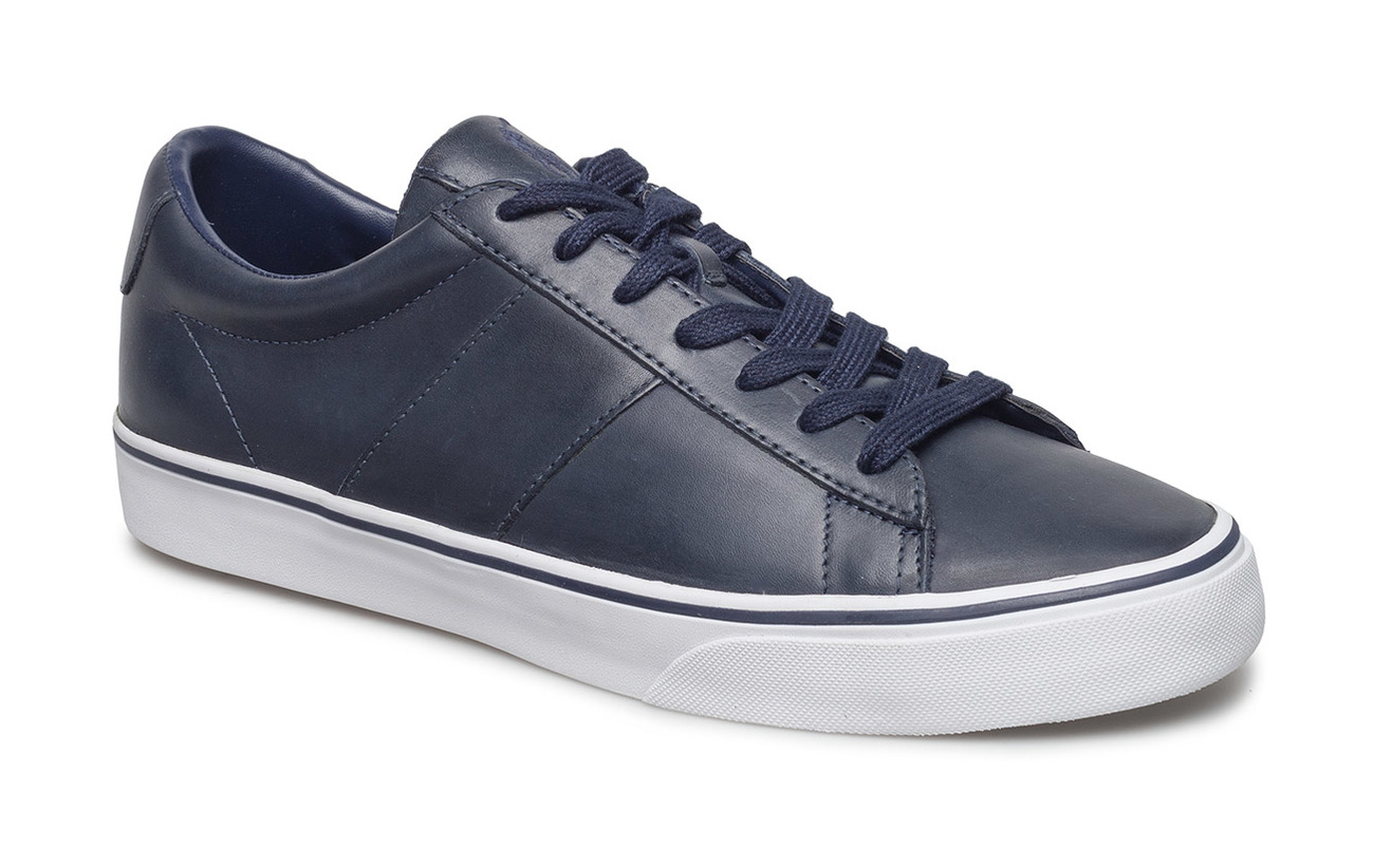 Polo Ralph Lauren Sayer Leather Low-Top Sneaker - BRIGHT NAVY