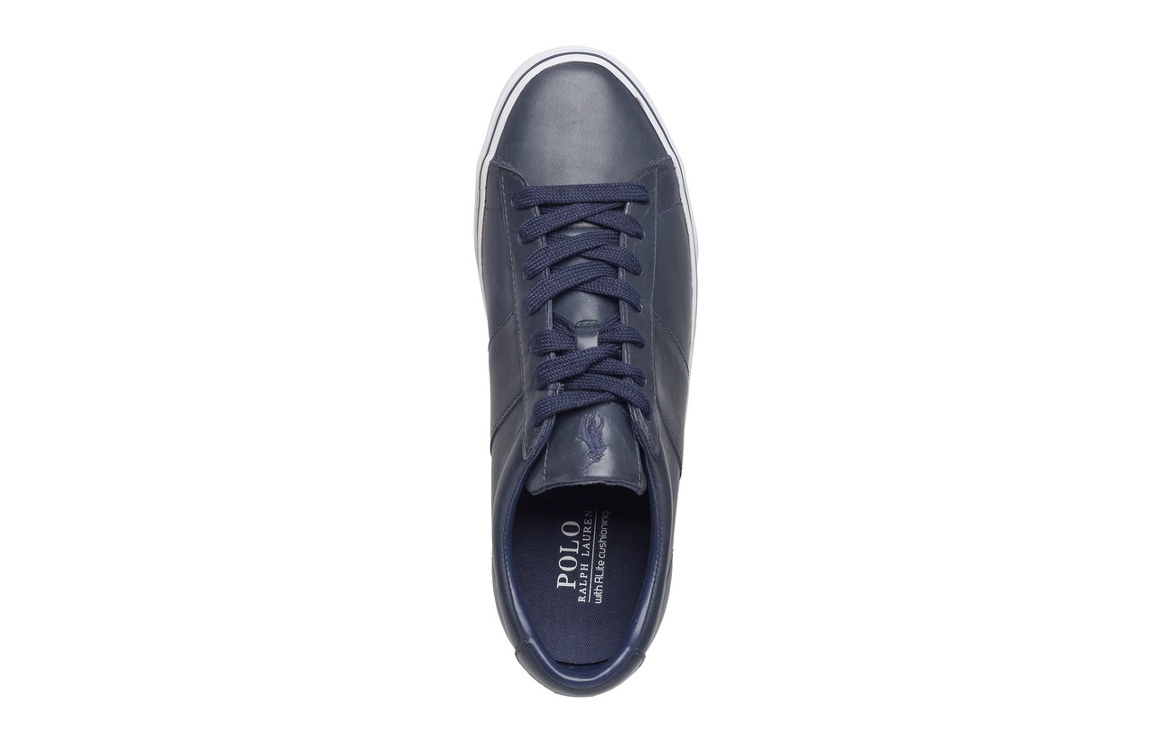 Leather top Ralph Low NavyPolo Sneakerbright Sayer Lauren nw8PO0k