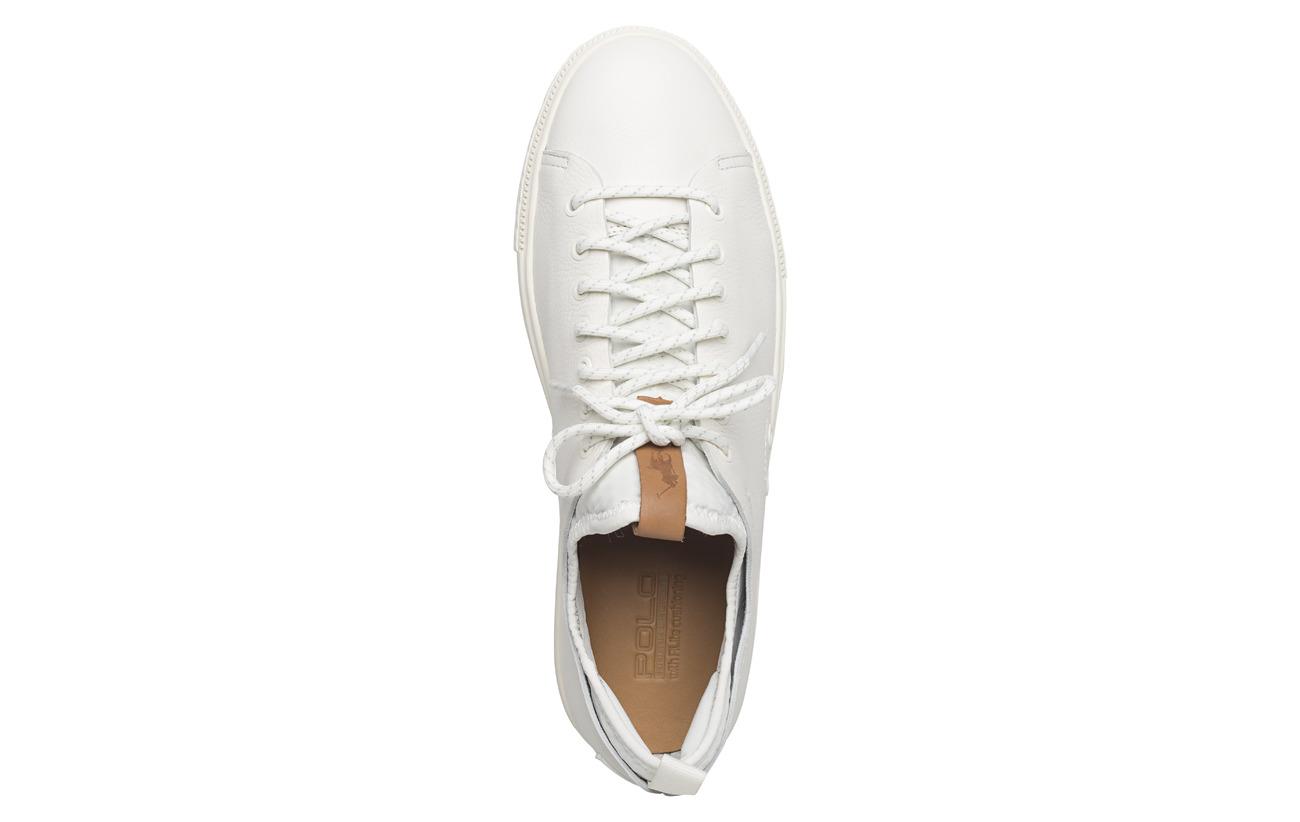 Sneaker Caoutchouc Peau White Polo Outsole 100 Lauren Dunovin Partie De Vache Leather Supérieure Ralph 4zzOqWgI