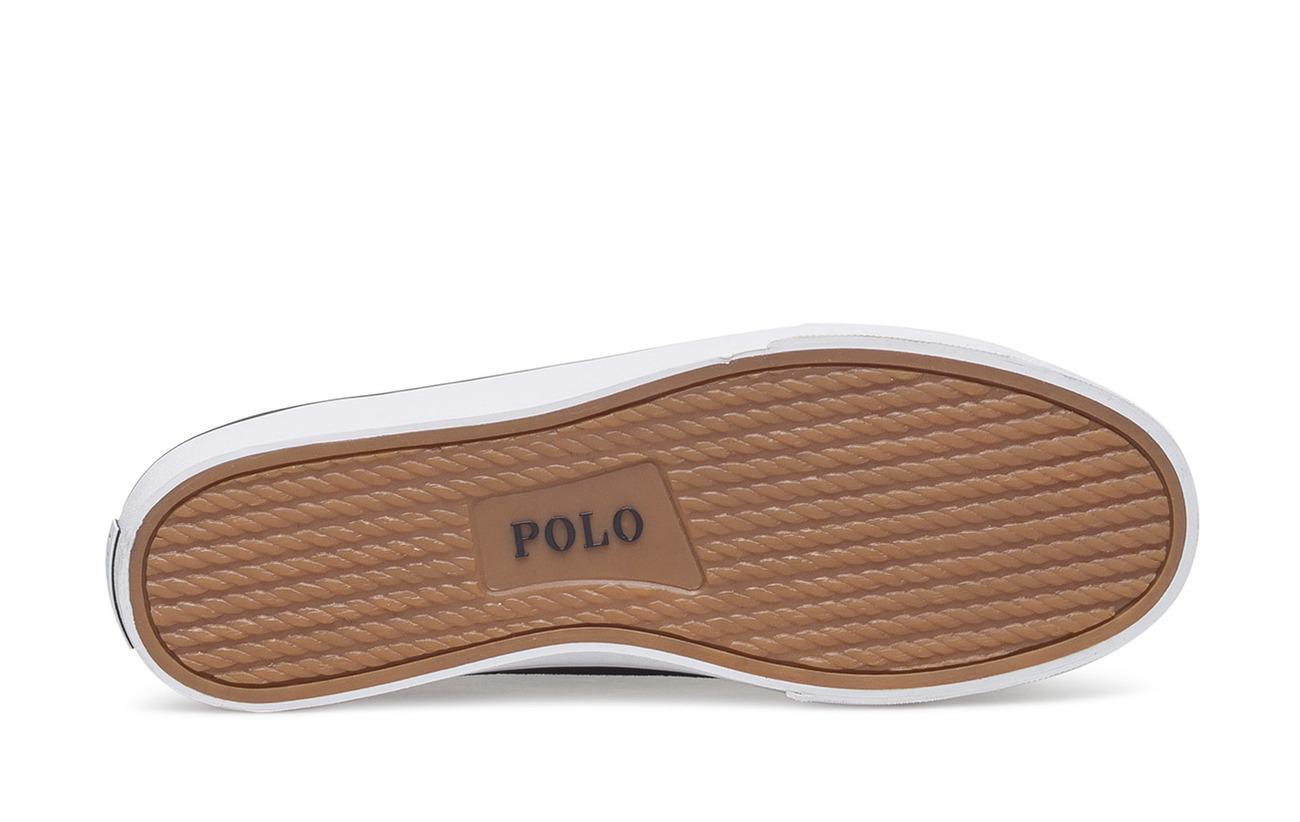 Partie Navy Sneaker Vache Low Lauren Sherwin top Peau Ralph Polo Aviator Supérieure Canvas Out De C87Bq