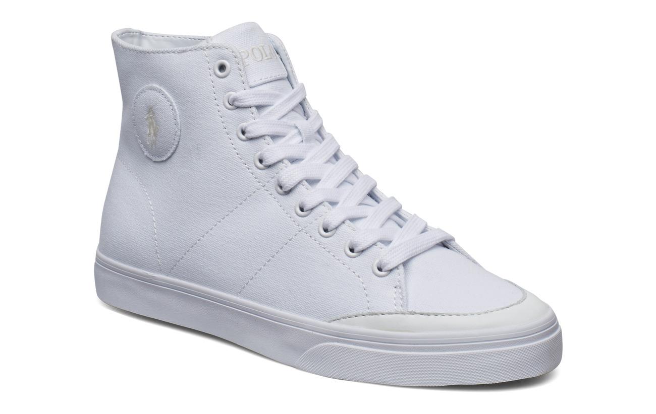 Polo Ralph Lauren Solomon Canvas Sneaker - WHITE