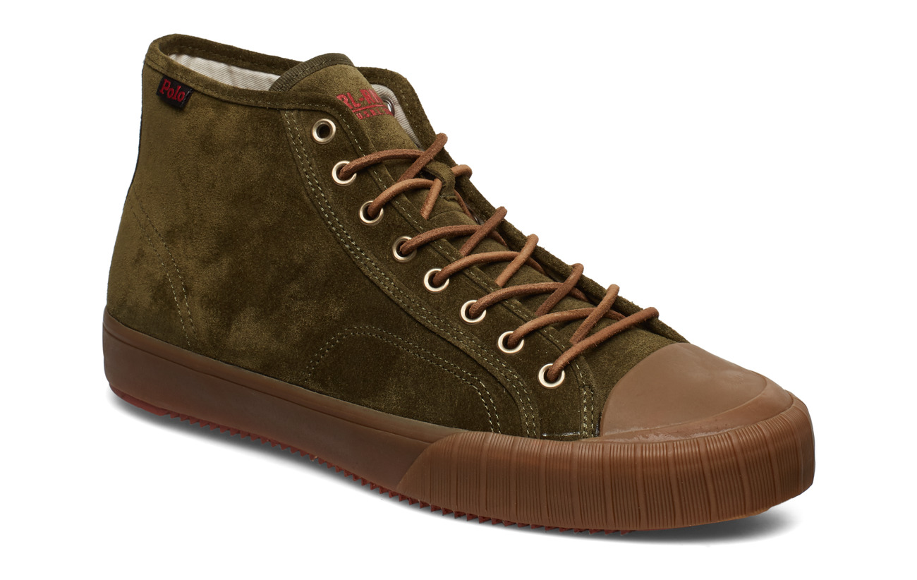 Polo Ralph Lauren SUEDE-XANDER MID-SK-VLC - HUNTER GREEN