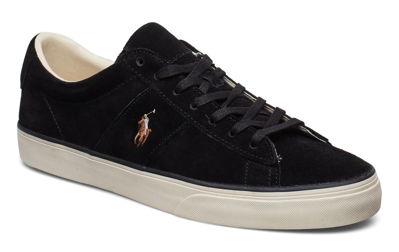 Polo Ralph Lauren Sayer Leather Low-Top Sneaker - BLACK