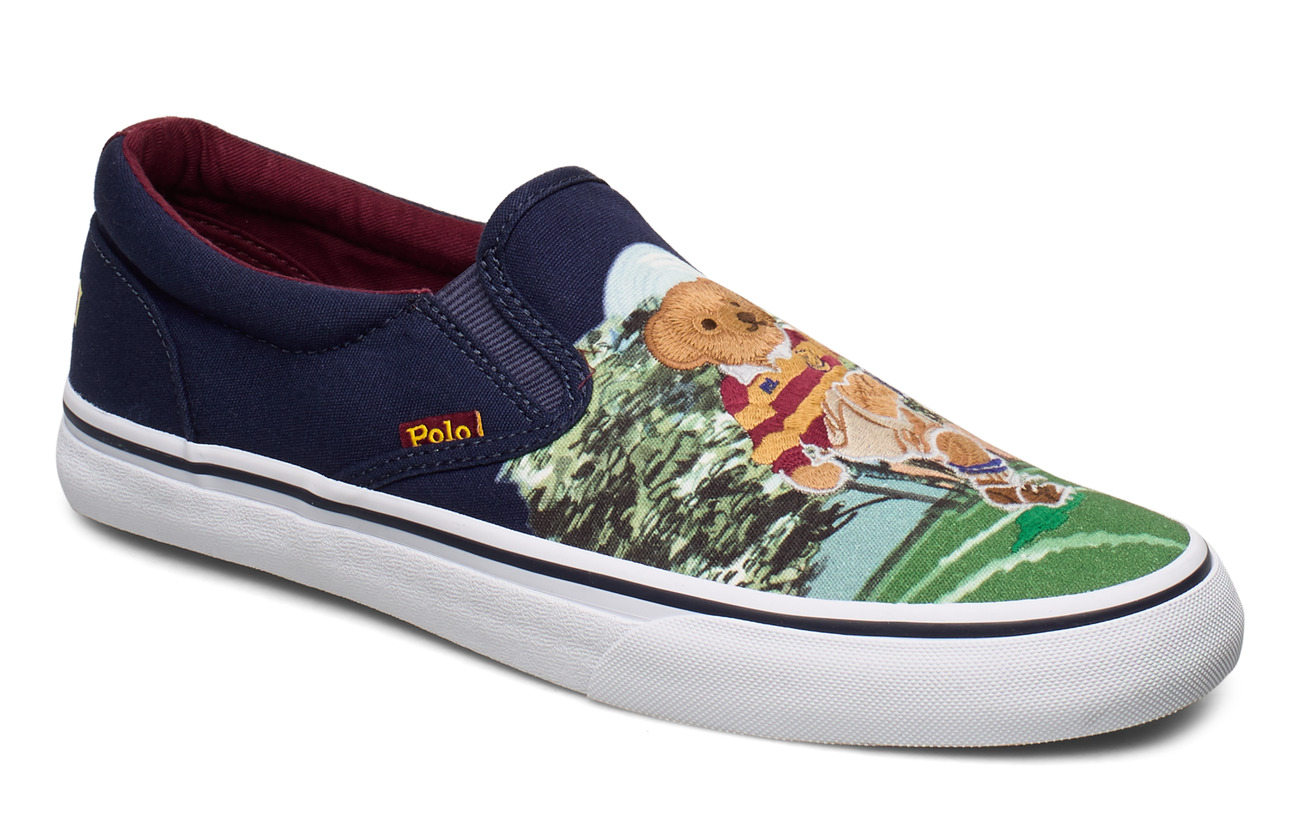 Polo Ralph Lauren Thompson Bear Graphic Sneaker - BEAR SCENE