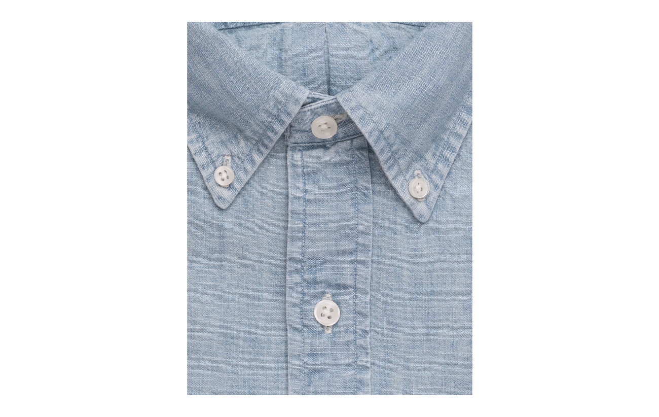 Chemises Slim Dark Chambray Ralph Shirt Wash Lauren Fit Polo PwS1qCx