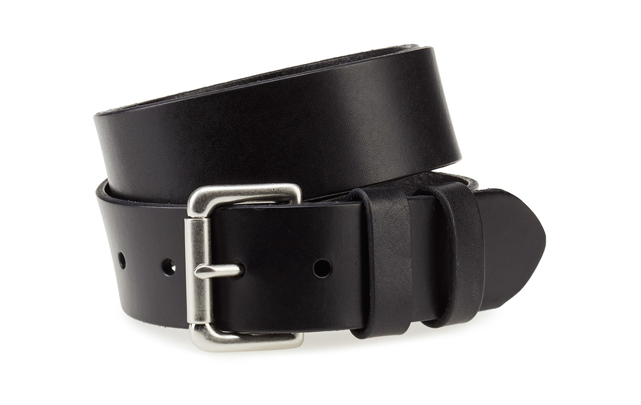 Polo Ralph Lauren Calfskin Leather Belt - BLACK