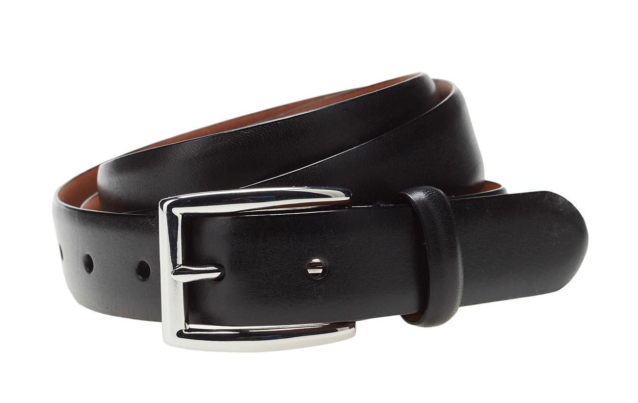 Polo Ralph Lauren BLT 1 1/8'' LTHR W/ PLSHD BKL - BLACK