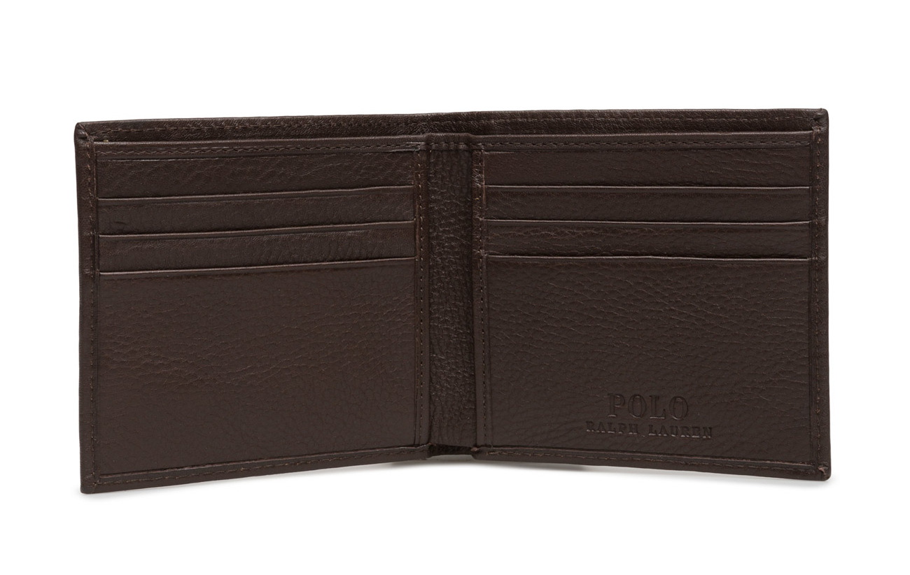 Billfold Leather WalletbrownPolo Billfold Ralph WalletbrownPolo Ralph Leather Lauren Lauren 8Nmwv0nO