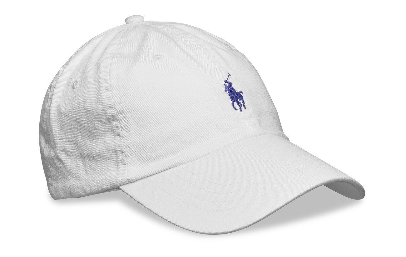 Polo Ralph Lauren Cotton Chino Baseball Cap - WHITE/MARLIN BL
