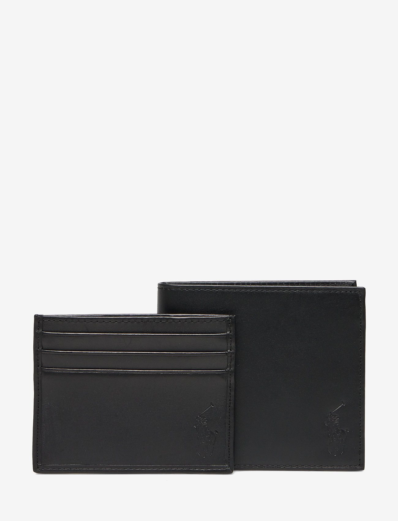 Polo Ralph Lauren - Leather Wallet & Card Case Gift Box Se - card holders - black - 1