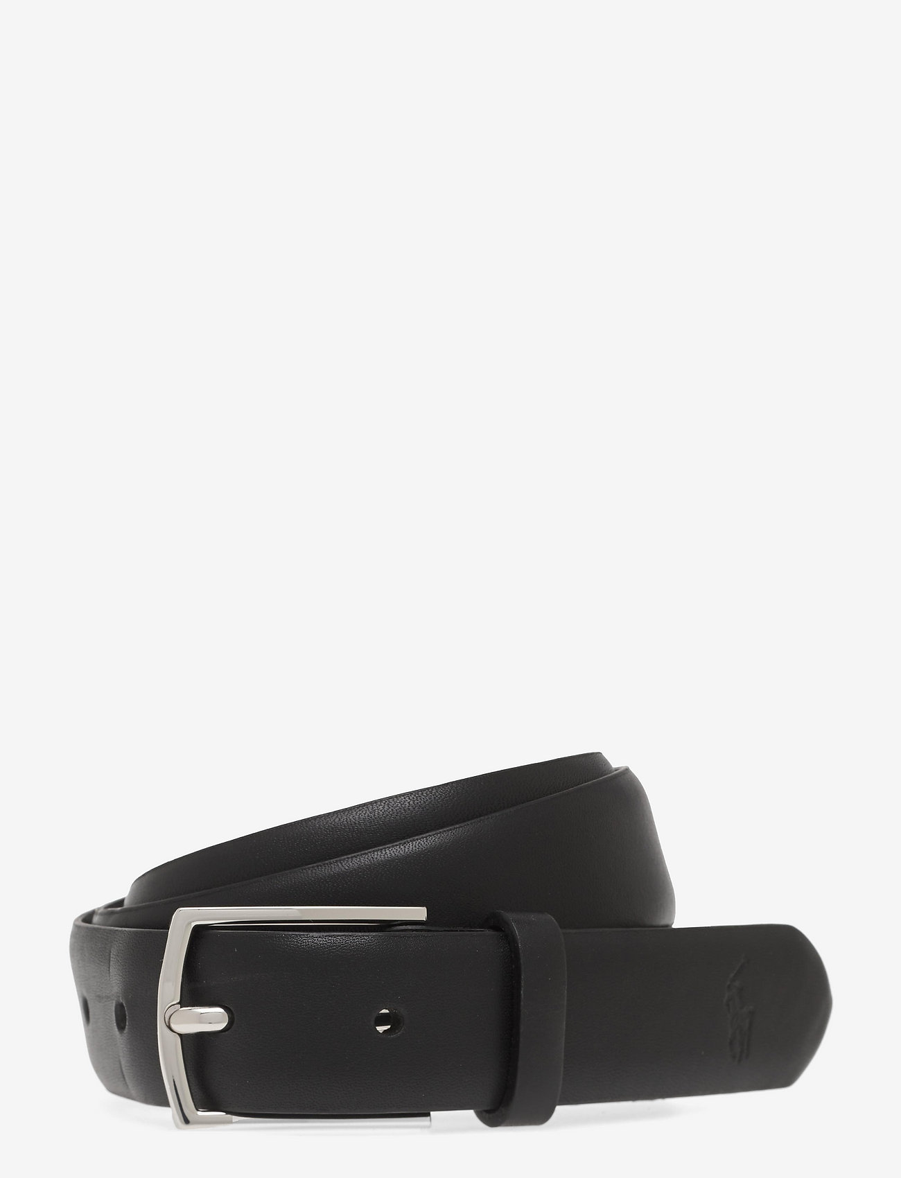 Polo Ralph Lauren - Polo-Plaque Calfskin Belt - belts - black - 0