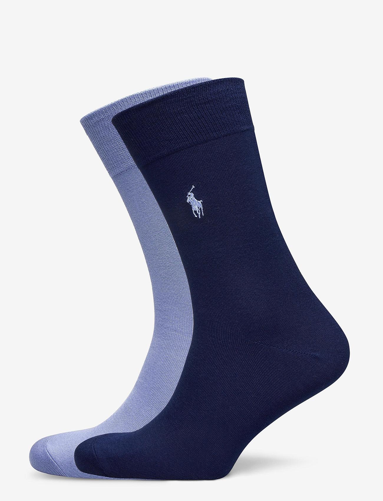 Polo Ralph Lauren - FLAT KNIT-CREW-2 PACK - regular socks - her royal/dress s - 0