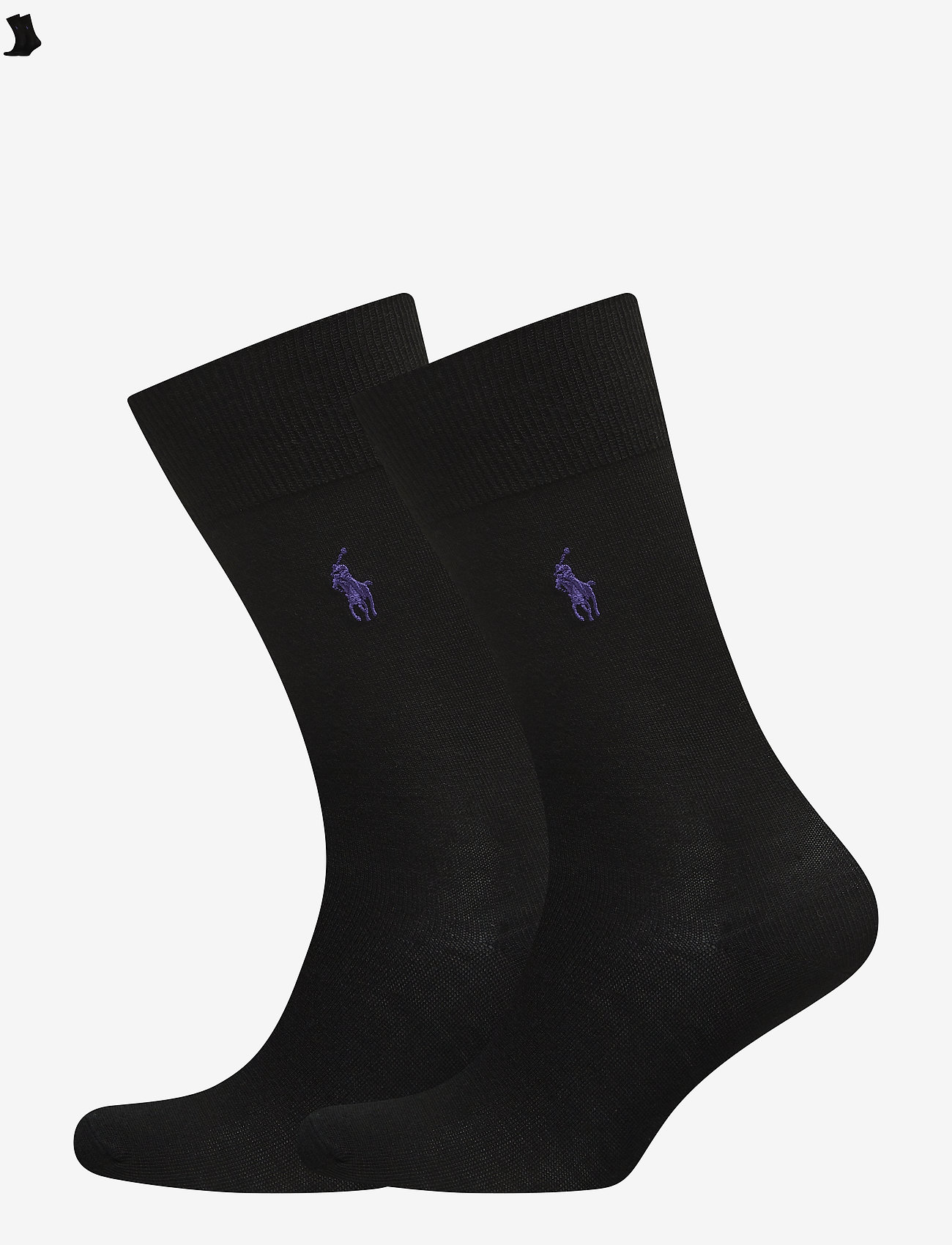 Polo Ralph Lauren - MERINO-2 PACK MERINO SLACK - regular socks - new black - 0