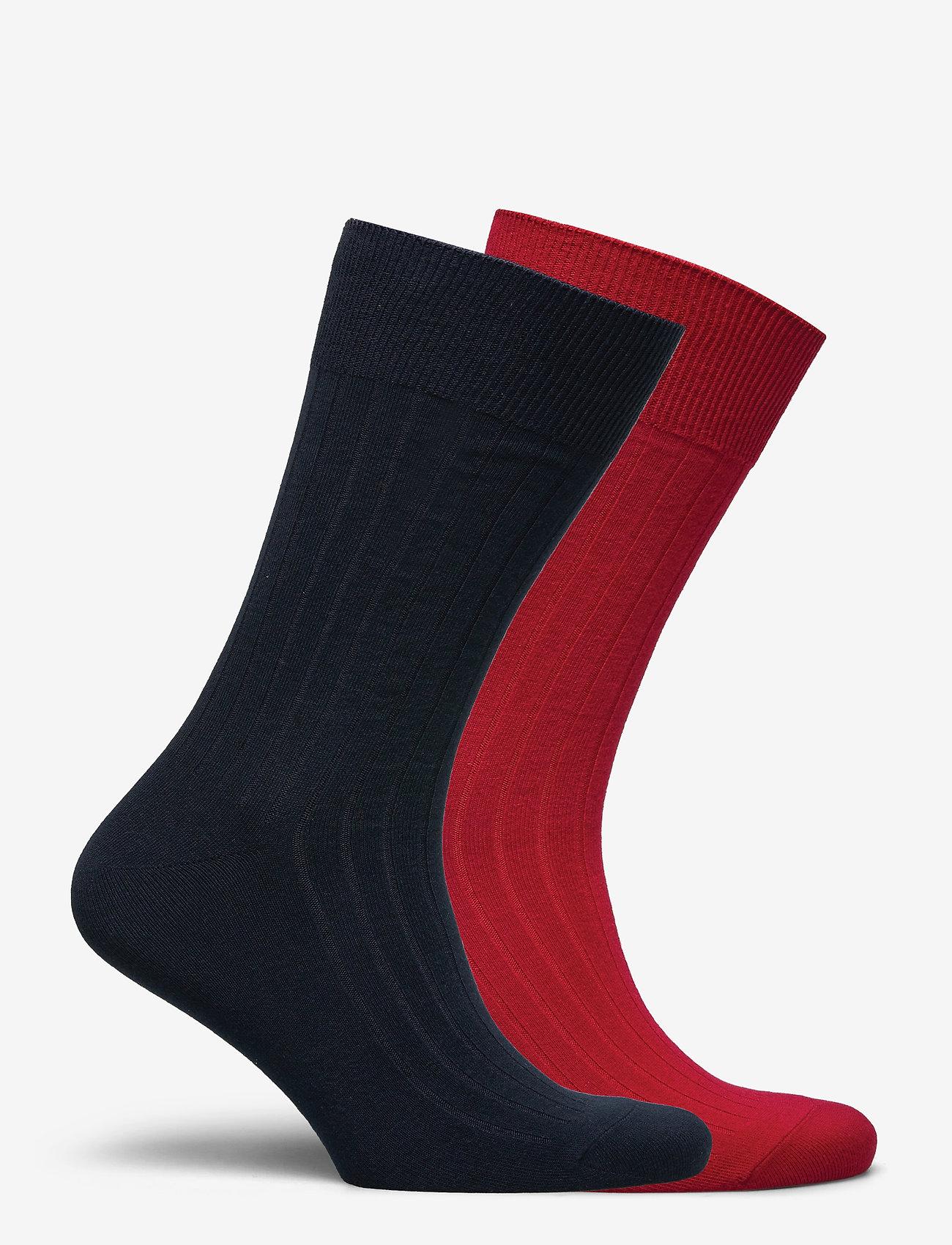 Polo Ralph Lauren - EGYPTIAN COTTON-EG RIB CTN 2PK - regular socks - park ave red/crui - 1