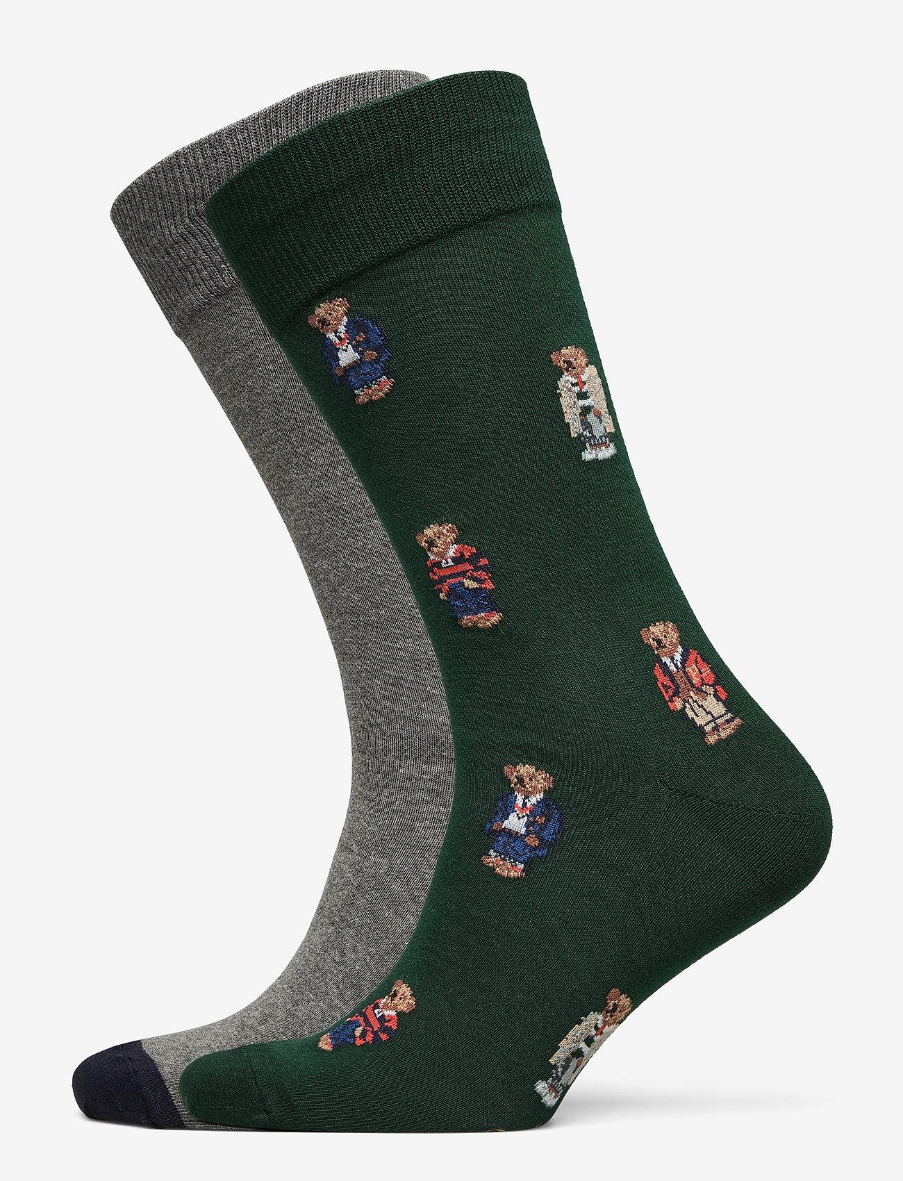 Polo Ralph Lauren - Polo Bear Dress Sock 2-Pack - regular socks - col green/ fost g - 0