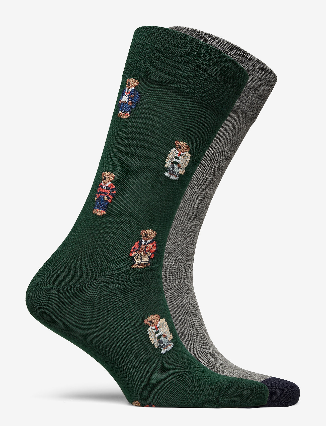 Polo Ralph Lauren - Polo Bear Dress Sock 2-Pack - regular socks - col green/ fost g - 1