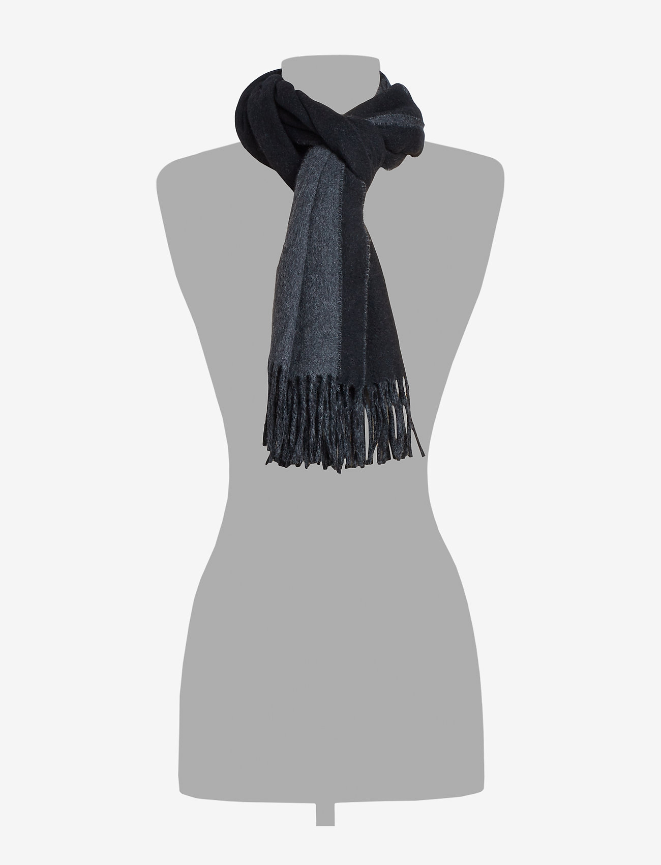 Polo Ralph Lauren - OVRSZED POLO-OBLONG SCARF - scarves - black/charcoal - 1