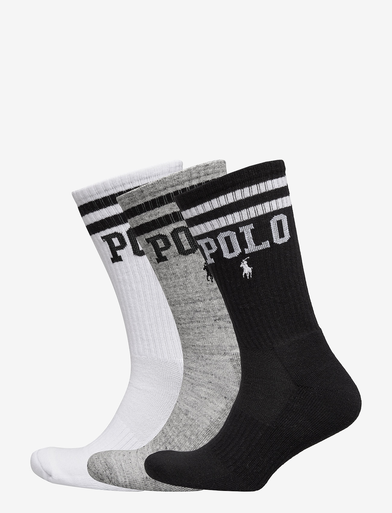 Polo Ralph Lauren - Logo Crew Sock 3-Pack - regular socks - white / grey / bl - 0