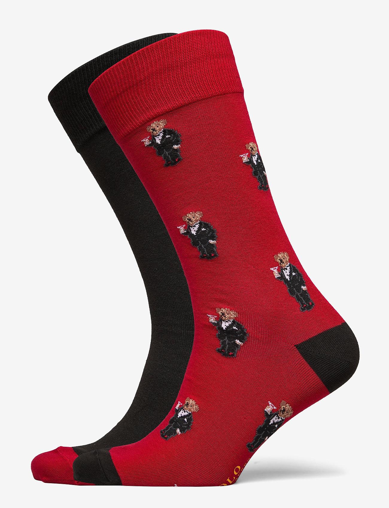 Polo Ralph Lauren - COMBED COTTON-TUX BEAR SCK-CRW-2PK - regular socks - prk avenue rd/pol - 0