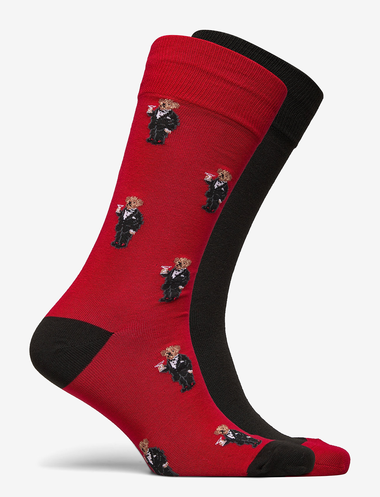 Polo Ralph Lauren - COMBED COTTON-TUX BEAR SCK-CRW-2PK - regular socks - prk avenue rd/pol - 1