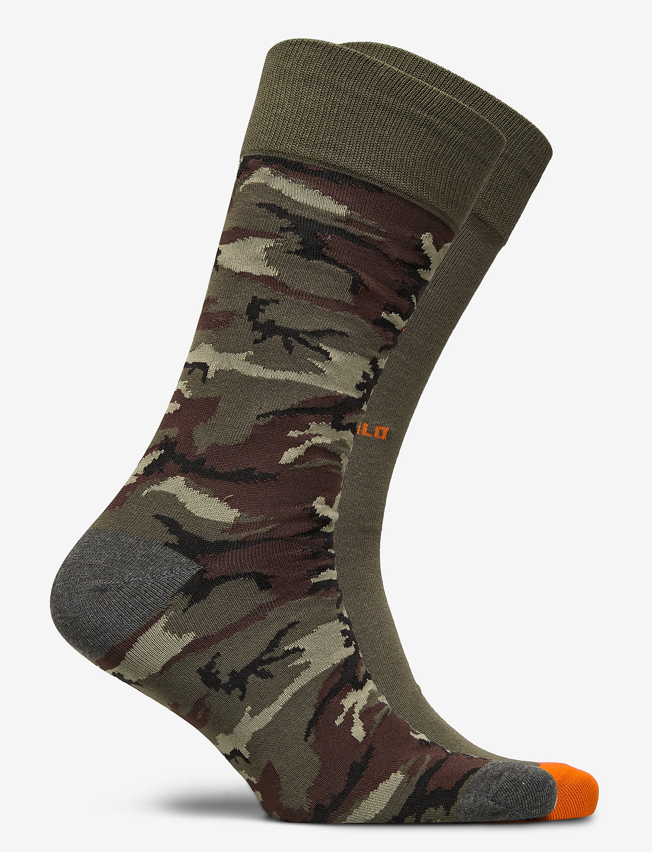 Polo Ralph Lauren - COMBED COTTON-BIG BEARS-CRW-2PK - regular socks - charcoal/nvy/surp - 1