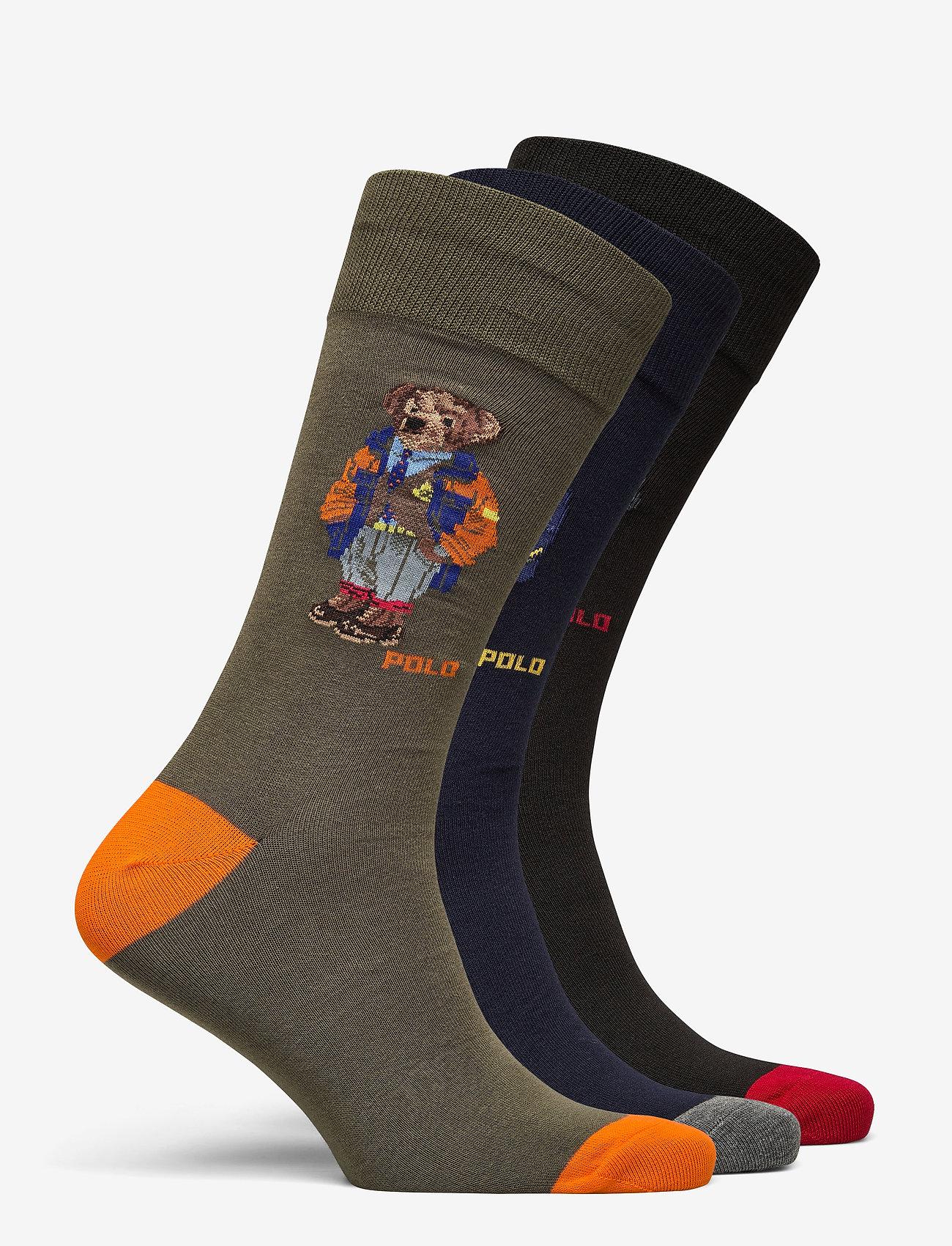 Polo Ralph Lauren - COMBED COTTON-3 BEAR CREW-GIFT BOX - regular socks - asst 991 - 1