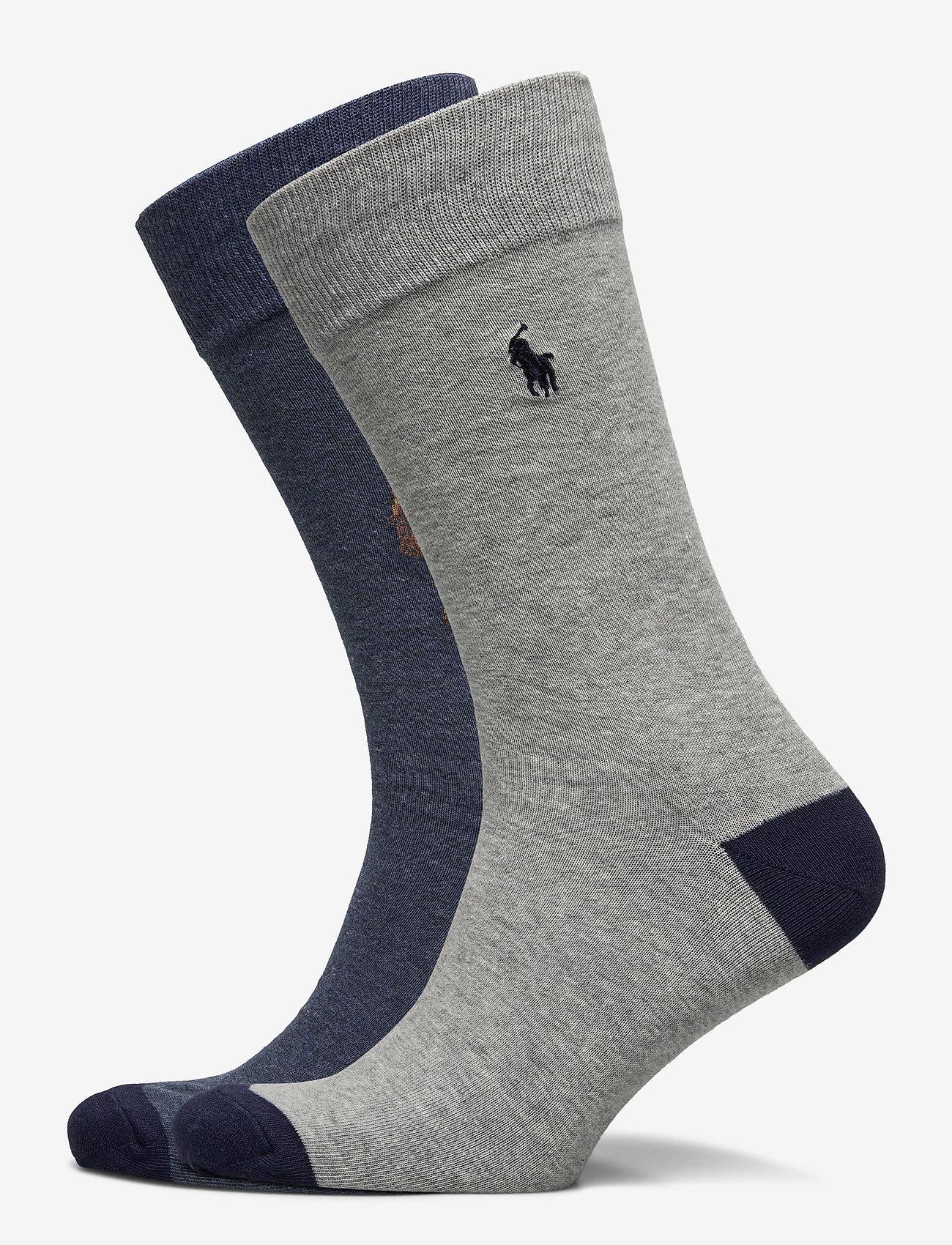 Polo Ralph Lauren - Polo Bear Trouser Sock 2-Pack - regular socks - andover  heather - 0