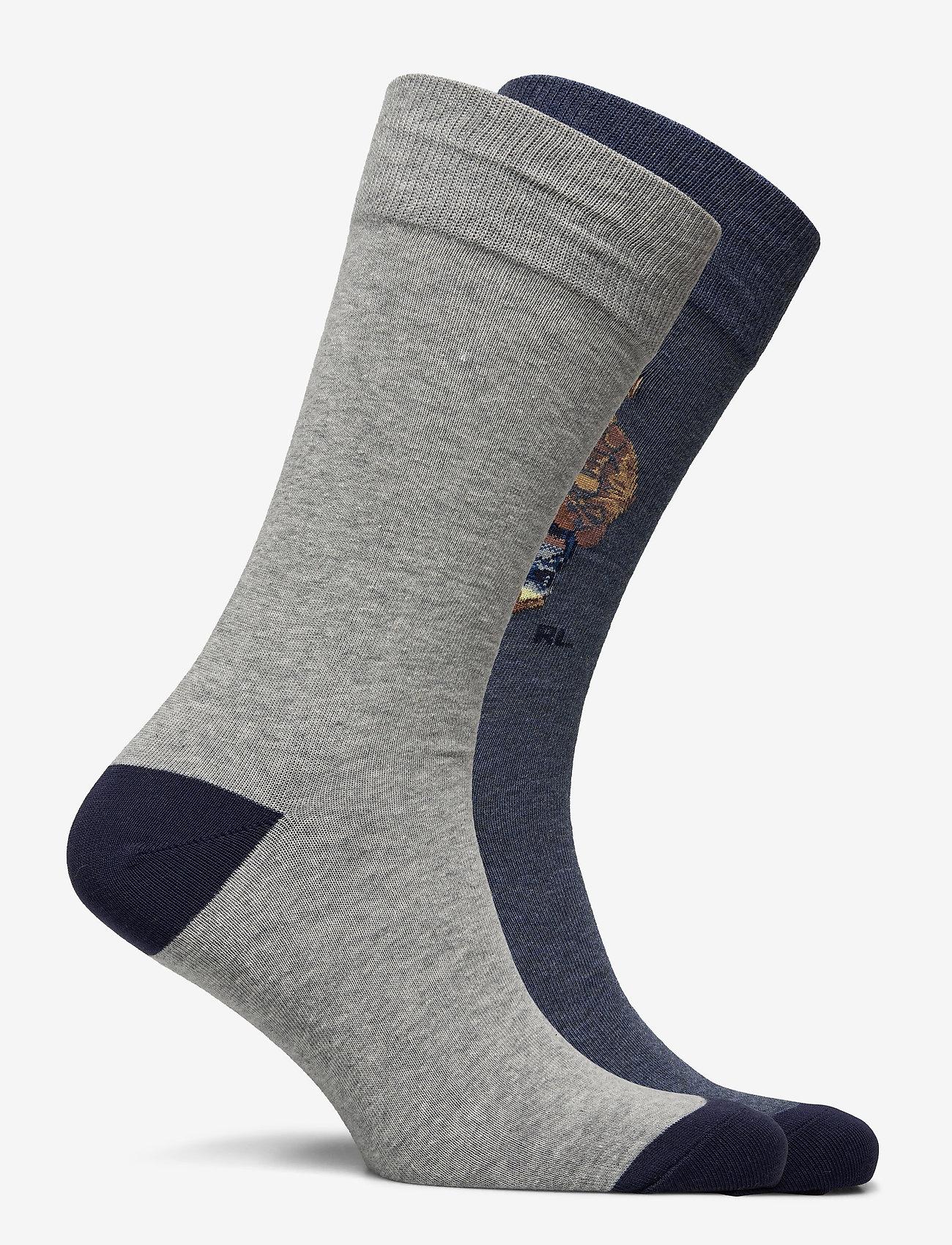 Polo Ralph Lauren - Polo Bear Trouser Sock 2-Pack - regular socks - andover  heather - 1
