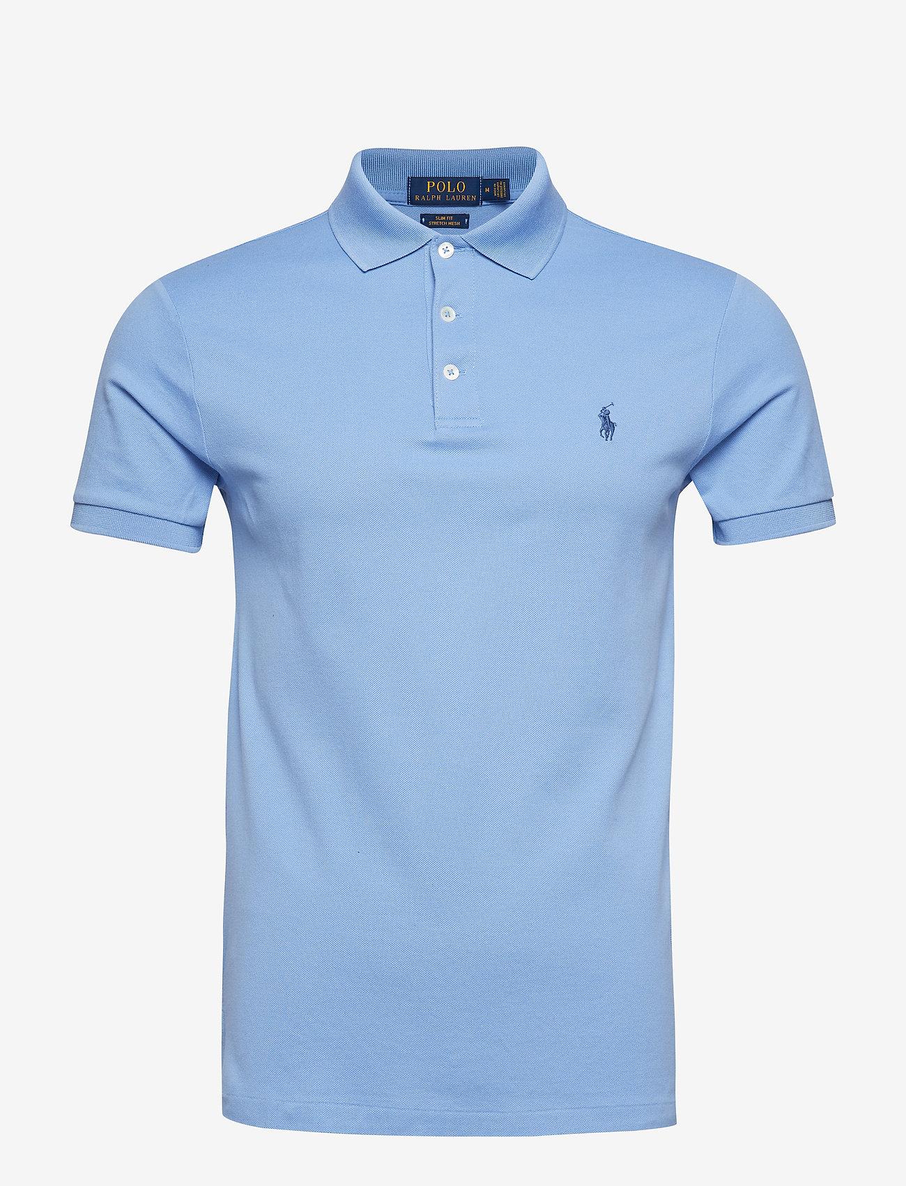 Polo Ralph Lauren - Slim Fit Stretch Mesh Polo - lyhythihaiset - cabana blue