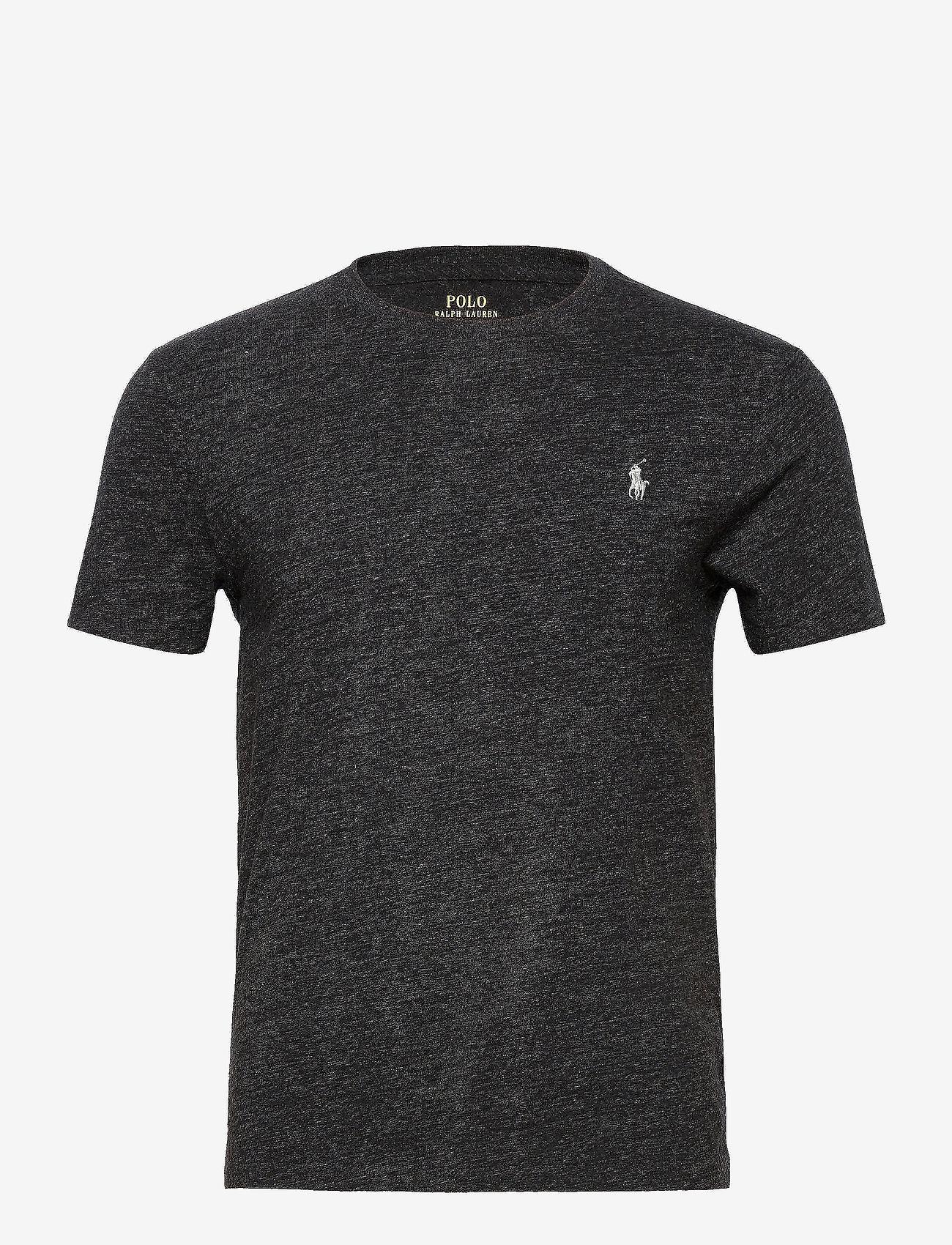 Polo Ralph Lauren - Custom Slim Crewneck T-Shirt - basic t-shirts - black marl heathe - 0