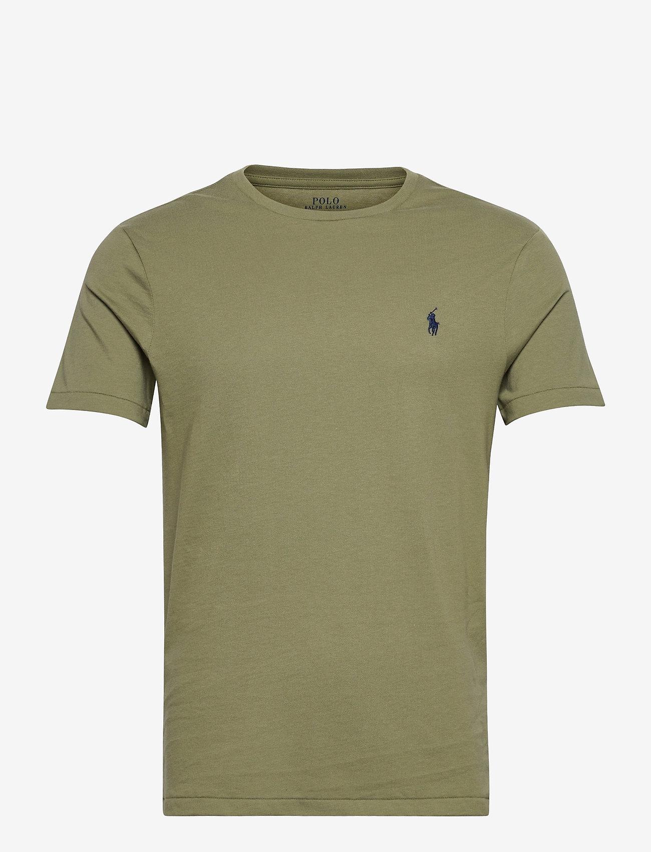 Polo Ralph Lauren - Custom Slim Crewneck T-Shirt - short-sleeved t-shirts - sage green/c7998 - 0
