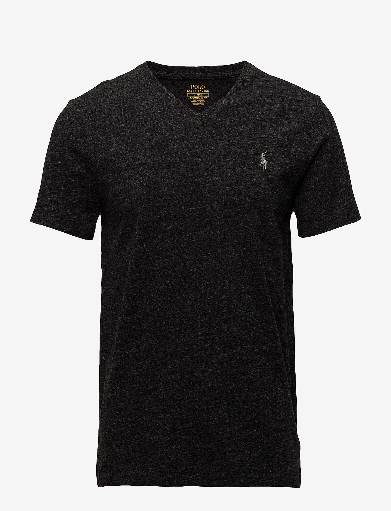 Polo Ralph Lauren - Custom Slim Fit V-Neck T-Shirt - short-sleeved t-shirts - black marl heathe
