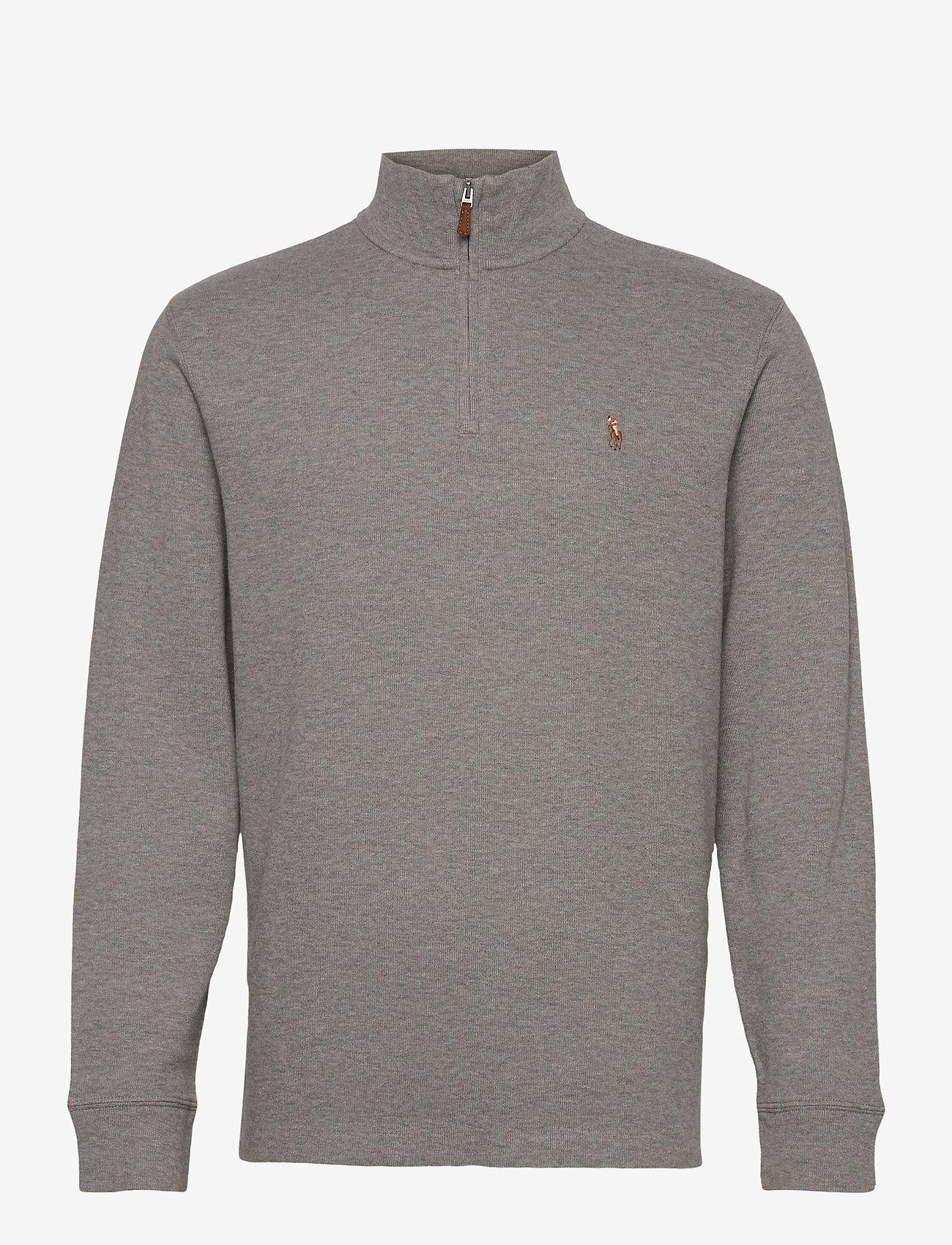 Polo Ralph Lauren - Estate-Rib Cotton Pullover - half zip jumpers - metallic grey hea - 1
