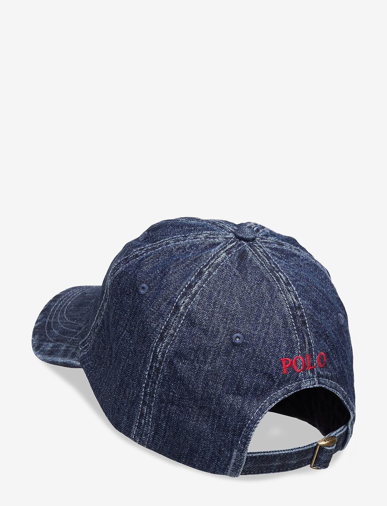 Polo Ralph Lauren Denim Baseball Cap - Czapki i kapelusze DARK WASH DENIM W - Akcesoria