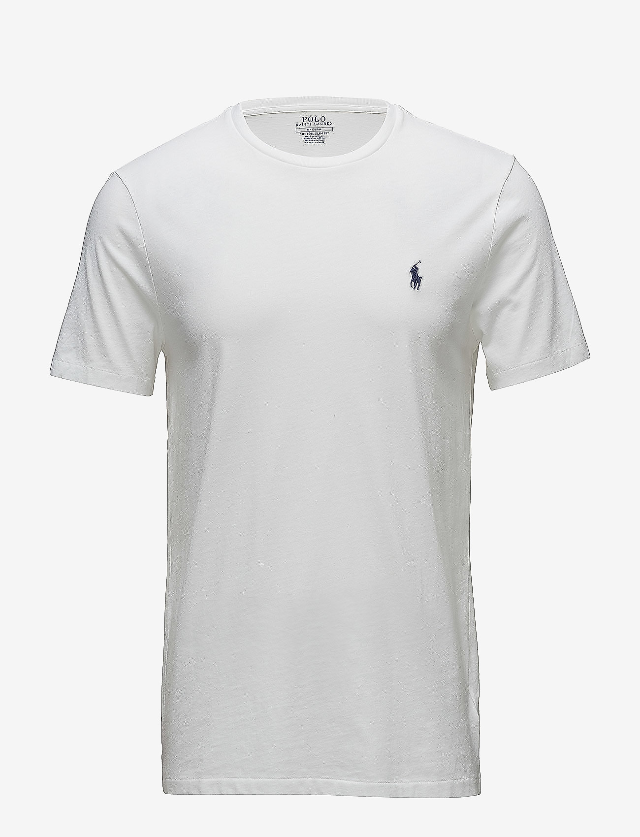 Polo Ralph Lauren - Custom Slim Fit Cotton T-Shirt - basic t-shirts - white - 0