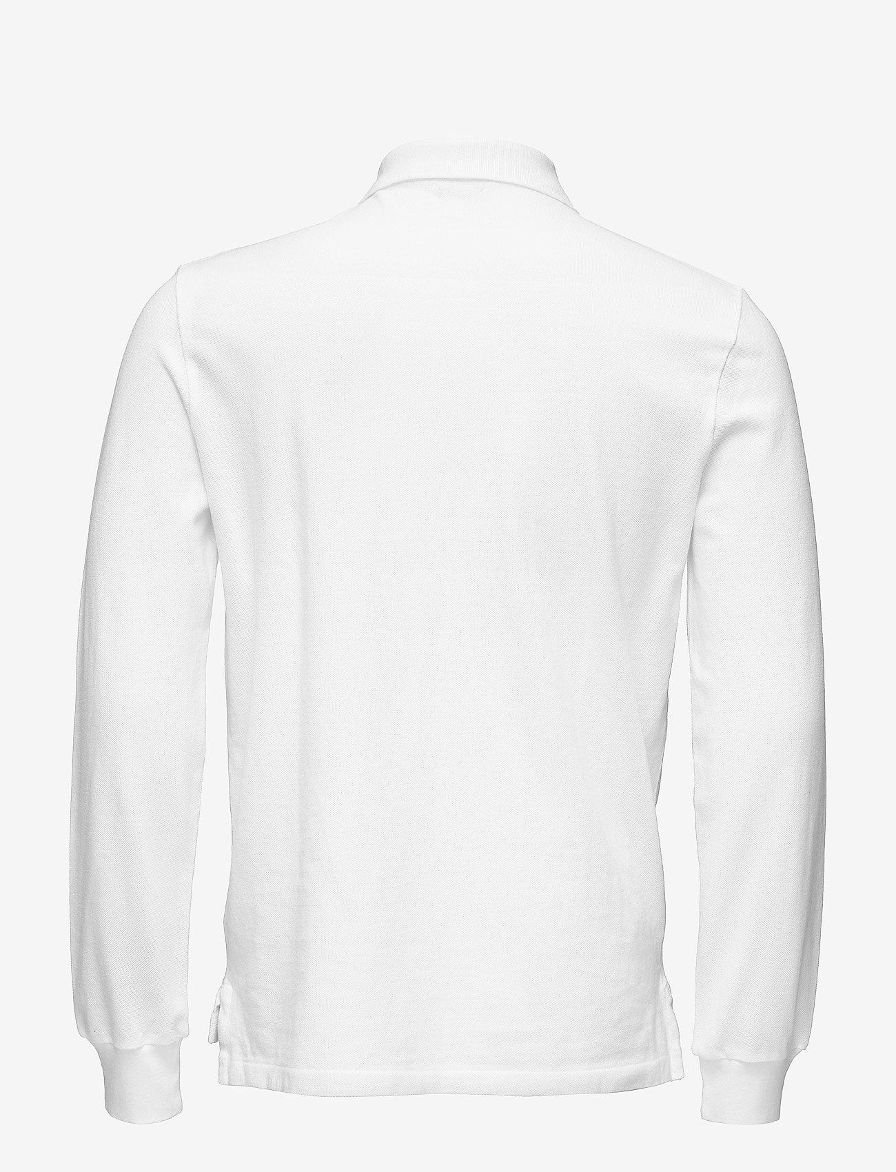 Polo Ralph Lauren - Custom Slim Fit Mesh Polo - lange mouwen - white - 1
