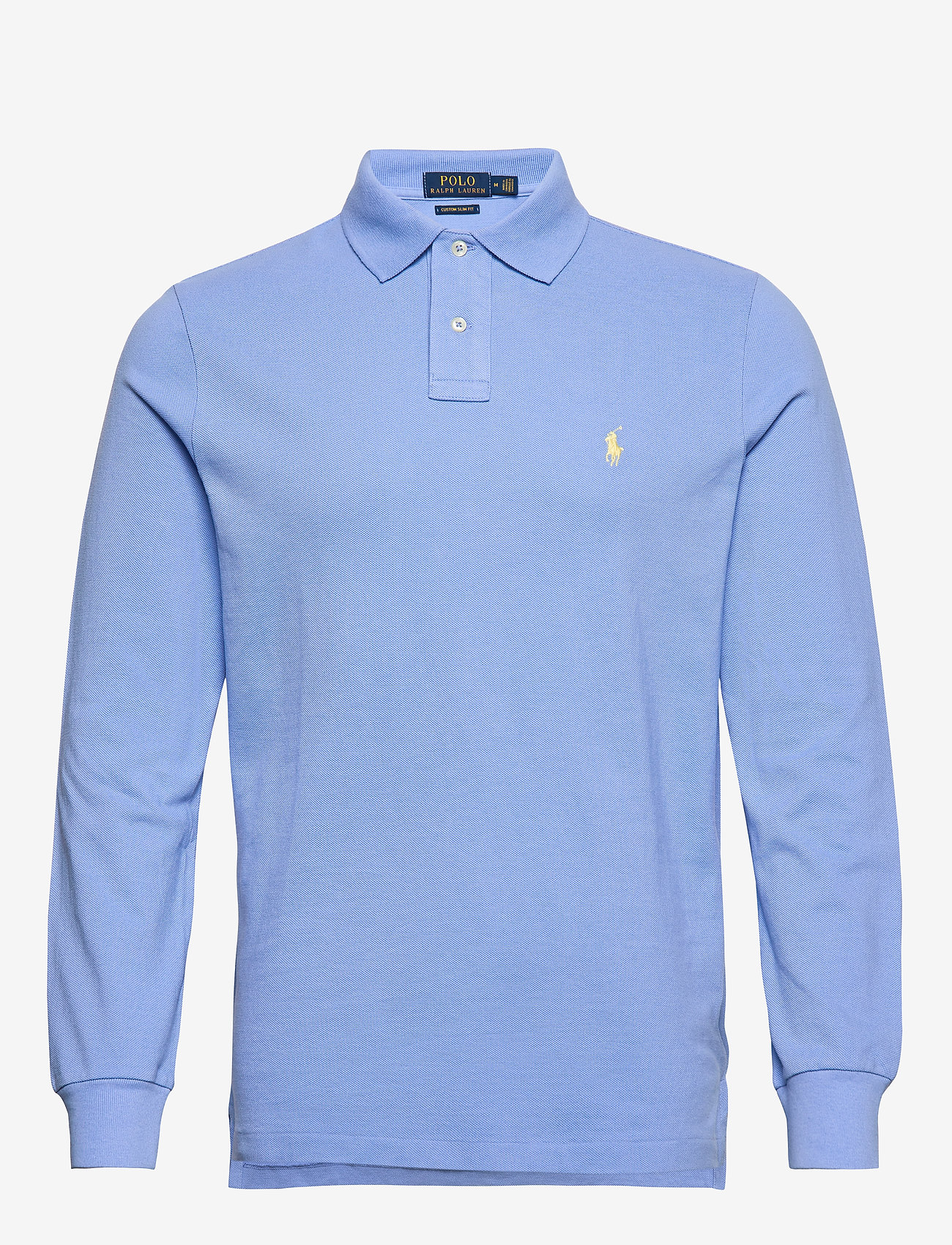 Polo Ralph Lauren - Custom Slim Fit Mesh Polo - pitkähihaiset - cabana blue