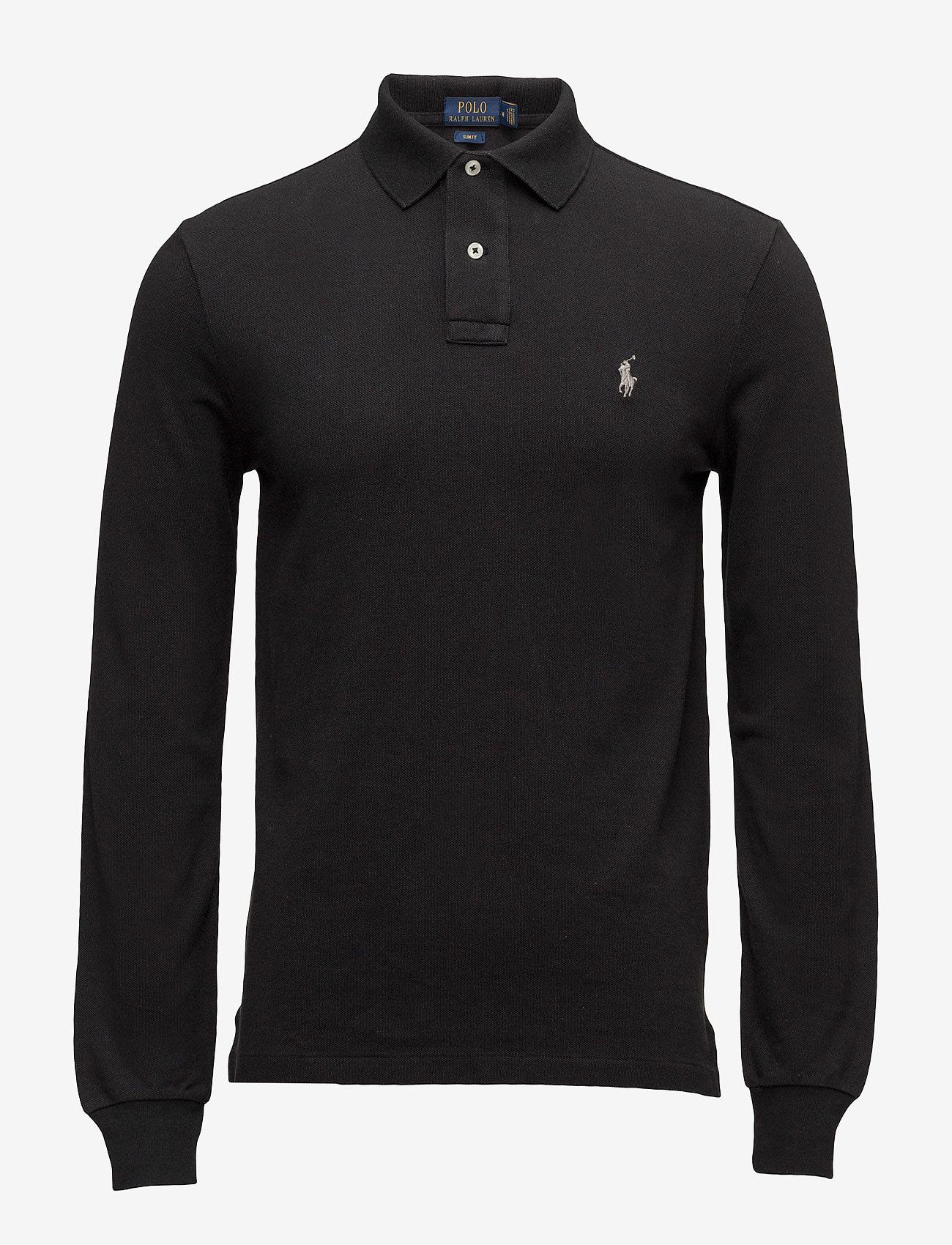 Polo Ralph Lauren - Slim Fit Mesh Long-Sleeve Polo - lange mouwen - polo black - 0