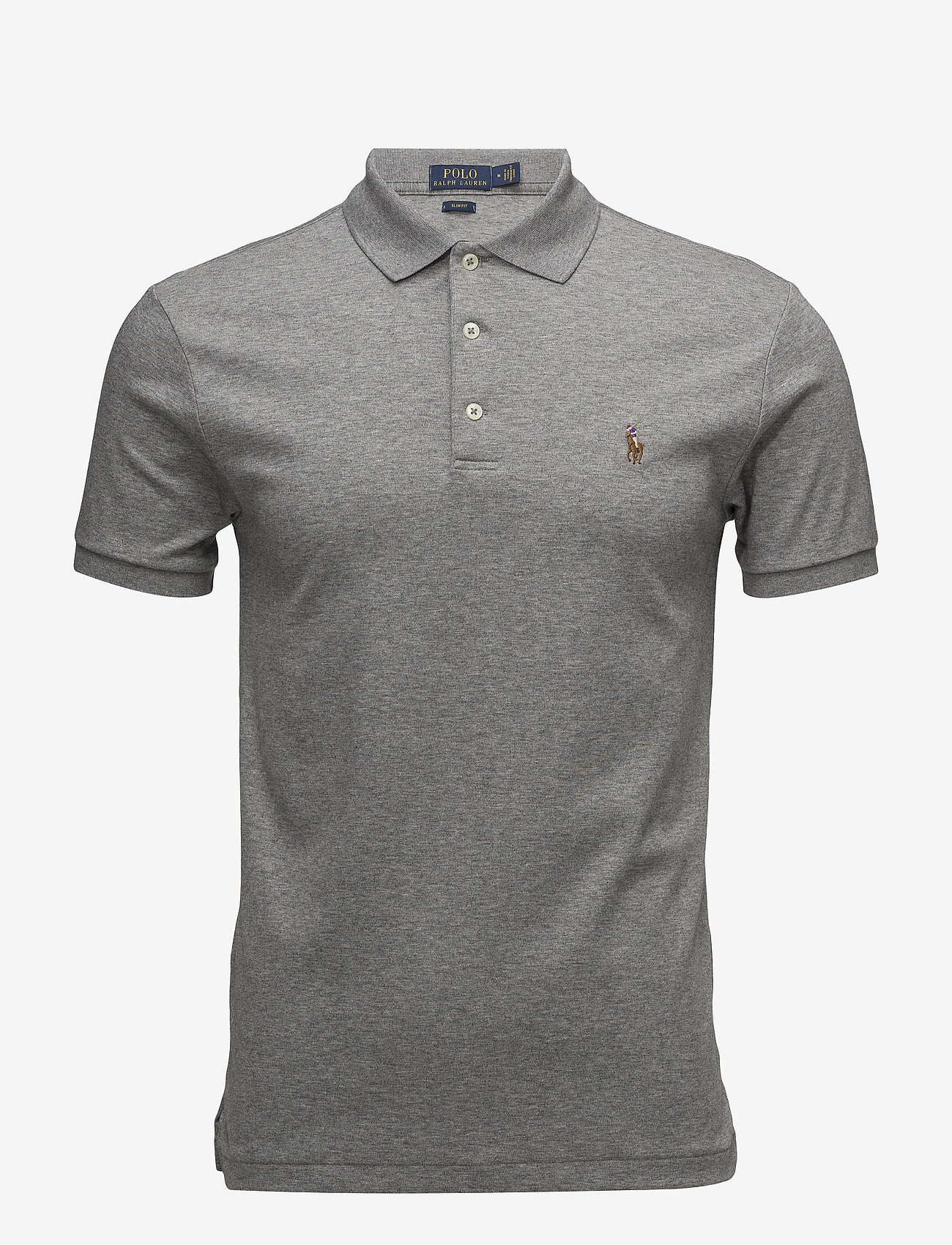 Slim Fit Soft-touch Polo Shirt (Steel Heather) - Polo Ralph Lauren LldXtR