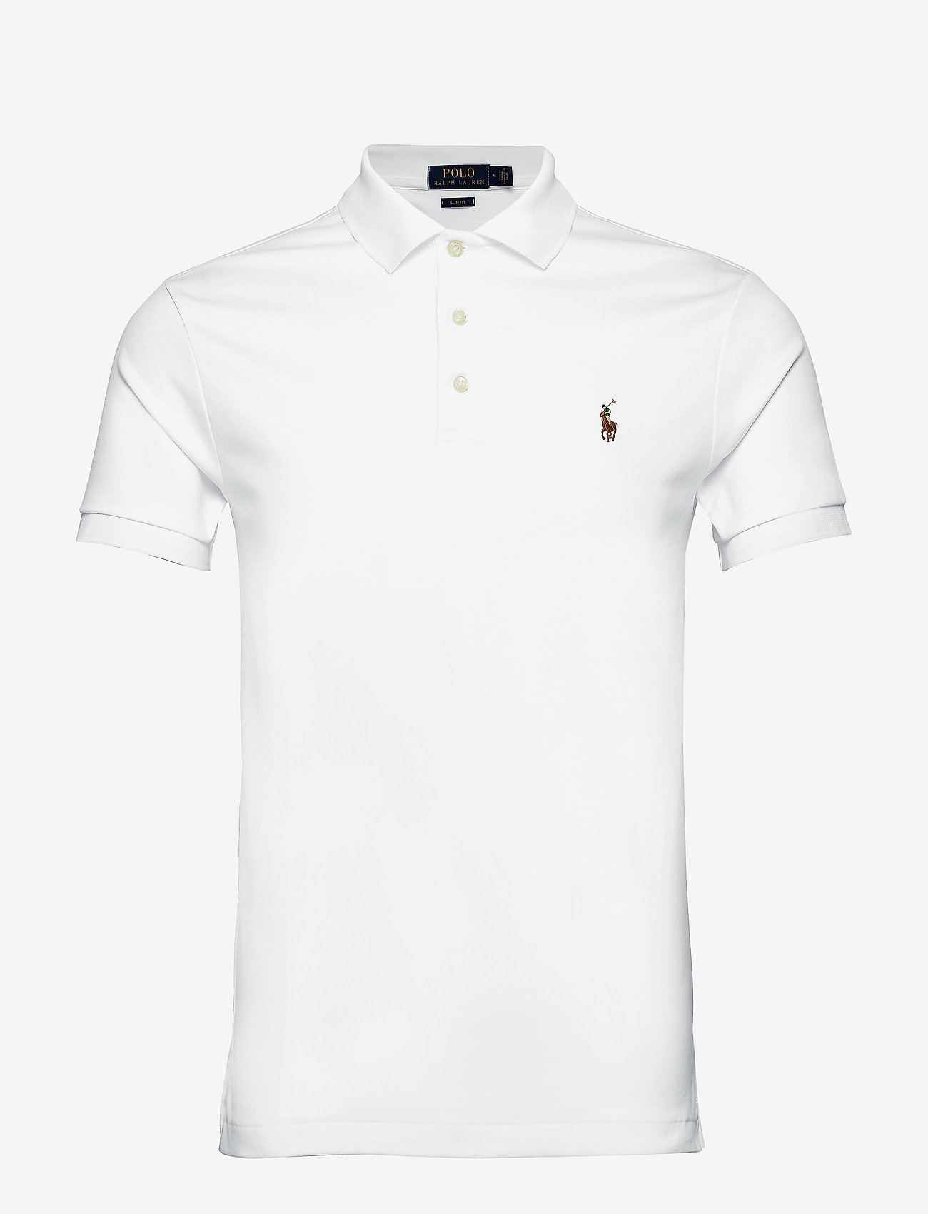 Polo Ralph Lauren - Slim Fit Soft-Touch Polo Shirt - lyhythihaiset - white