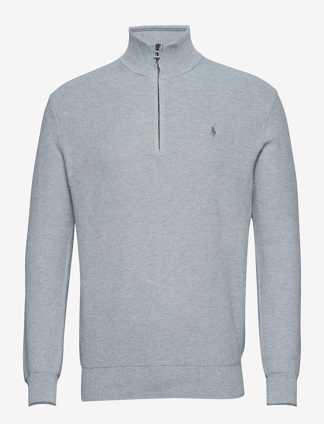 Polo Ralph Lauren - Cotton Half-Zip Sweater - half zip - andover heather - 1
