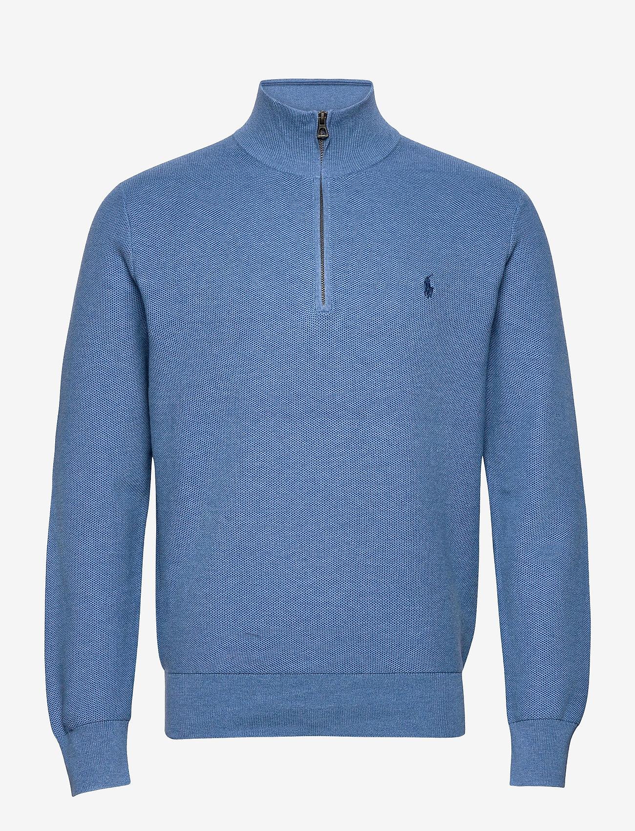 Polo Ralph Lauren - Cotton Half-Zip Sweater - half zip - blue stone heathe - 1